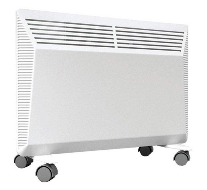 Конвектор электрический Neoclima Tesoro 1,010 м? - 1.0 кВт<br>Конвектор серии Tesoro 1,0 от NEOCLIMA &amp;ndash; надежный прибор отопления в брызгозащитном исполнении. Монолитный нагревательный элемент, расположенный в корпусе нагревает воздух, который выходит через отверстия в верхней части корпуса. Корпус конвектора нагревается не сильно и не может вызвать ожогов при прикосновении, прибор имеет механический терморегулятор. &amp;nbsp;<br>Преимущества электрических конвекторов серии Tesoro от NEOCLIMA:<br><br>Универсальная установка &amp;ndash; настенный монтаж, установка на полу;<br>В комплекте &amp;ndash; крепления на стену, ножки и колесики для установки на пол;<br>Нагревательный элемент &amp;ndash; Х-образный монолитный;<br>Высоконадежный механический термостат;<br>Максимальная теплоотдача, минимальное сопротивление воздуху;<br>Высокая степень безопасности, низкая температура корпуса;<br>Автоматическая регулировка температуры;<br>Защита от поражения током, от перегрева от замерзания, от попадания внутрь прибора посторонних предметов.<br>Бесшумная работа, быстрый нагрев, высокая эффективность, не высушивает воздух, не накапливает пыль, безопасная конструкция;<br>Брызгозащитное исполнение;<br>Небольшой вес прибора &amp;ndash; удобная транспортировка (упаковка с ручкой).<br><br>Серия Tesoro, как и другие серии конвекторов NEOCLIMA, использует в качестве нагревательного элемента монолитный Х-образный элемент, основой которого является нихромовая нить с диэлектрическим заполнителем расположенная в цельнолитом алюминиевом корпусе с развитым оребрением. Такая конструкция нагревательного элемента исключает появление микротрещин и трение при работе, а также гарантирует отсутствие шумов при нагреве/охлаждении, так как все части одинаково расширяются при нагреве и сужаются при охлаждении. Нагревательный элемент конвектора Tesoro снижает промежуточные теплопотери, благодаря чему прибор имеет максимальную теплоотдачу и значительно экономит электроэнергию. &amp;nbsp;&amp;nbsp