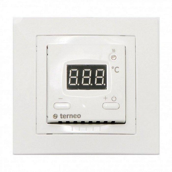 Терморегулятор Nikaten Terneo VTАксессуары<br>Nikaten (Никатэн) Терморегулятор Terneo VT   это бытовой электрический термостат для разнообразного отопительного оборудования, оснащенный внутренним датчиком температуры. Данное устройство защищено от перепадов напряжения и имеет функцию запоминания настроек на случай непредвиденного прекращения работы. Стильный дизайн и компактные размеры позволят рассматриваемой модели гармонично вписаться в современный интерьер.<br>Особенности и преимущества терморегулятора:<br><br>Пределы регулирования: от 0  С до 30  С<br>Максимальный ток нагрузки: 16 А<br>Максимальная мощность нагрузки: 3 кВт<br>Напряжение питания: 220 В   10%<br>Основные размеры: 60 x 60 x 25 мм<br>Датчик температуры: 1<br><br>Компания Nikaten разработала ряд аксессуаров для своих обогревателей. Эти элементы призваны сделать эксплуатацию приборов еще более удобной. В нашем интернет-магазине покупатели найдут несколько моделей функциональных терморегуляторов   компактных и практичных.<br> <br><br>Страна: Россия<br>Тип установки: Настенная<br>Мощность, кВт: None<br>Габариты, мм: 60x60x25<br>Гарантия: 1 год<br>Вес, кг: 1<br>Ширина мм: 60<br>Высота мм: 60<br>Глубина мм: 25