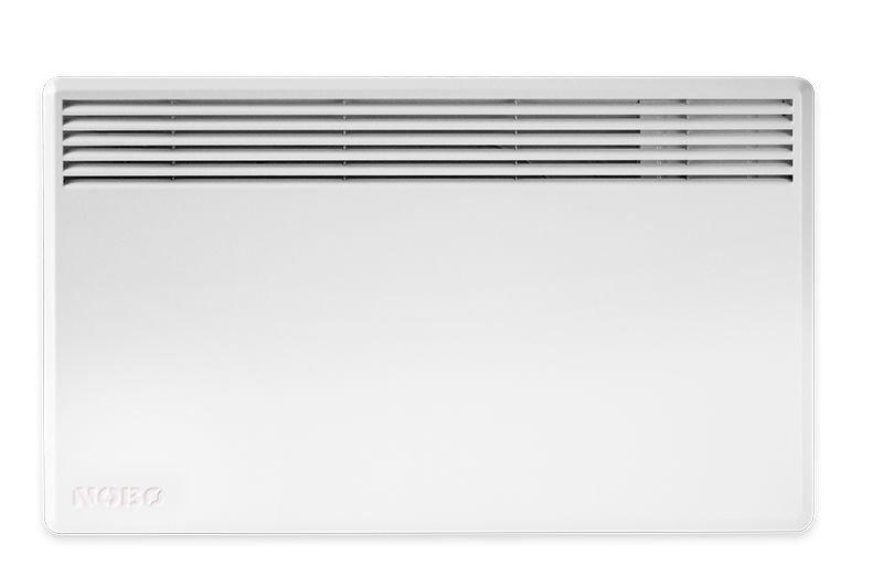 Конвектор электрический Nobo NFC4N 05 (Без термостата)5 м? - 0.5 кВт<br>Конвекторный обогреватель Nobo (Нобо) NFC4N 05 (Без термостата) работает от сети электропитания и оснащен надежной системой защиты от перегрева, которая гарантирует отключение панели в случае возникновения неполадки. Устройство, благодаря простому дизайну, плоской конструкции и малогабаритности, может быть установлено в помещениях с ограниченным пространством.    <br>Главные особенности представленной модели электрического конвектора от производителя Nobo:<br><br>Стильный внешний облик.<br>Удобная конструкция.<br>Незатруднительный монтаж.<br>Удобная и понятная механическая система управления.<br>Соответствие требованиям благодаря технологии  ecoDesign .<br>Ресурс работы   30 лет.<br>Обогреватель соответствует классу защиты IP 24.<br>Возможно подключение к Orion 700 или Nobo Energy Control.<br>Конвектор может работать автономно или в единой цепи с другими обогревателями.<br>Кронштейны для крепления к стене поставляются в комплекте с обогревателем.<br>Срок гарантийного обслуживания от производителя   10 лет.<br>Термостат не входит в комплект поставки.<br>Возможность установки на ножки с колесиками (опция).    <br><br>Nobo Серия Viking (термостат не в комплекте)   это модельный ряд современных и надежных обогревателей конвекторного типа, которые работают от сети электропитания. Данное оборудование имеет компактные размер и плоскую конструкцию, благодаря чему каждая модель может с легкостью поместиться в комнате в условиях ограниченного пространства. Предусмотрена защита от перегрева.<br><br>Страна: Норвегия<br>Производитель: Норвегия<br>Mощность, Вт: 500<br>Площадь, м?: 5<br>Класс защиты: IP24<br>Настенный монтаж: Да<br>Термостат: Нет<br>Установка: Настенная<br>Длина конвектора: 525<br>Высота конвектора: 400<br>Отключение при перегреве: Есть<br>Отключение при опрокидывании: Нет<br>Влагозащитный корпус IP44: Нет<br>Ионизатор: Нет<br>Дисплей: Нет<br>Питание В/Гц: 220/50<br>Размеры ВхШхГ: 400x525x55<b