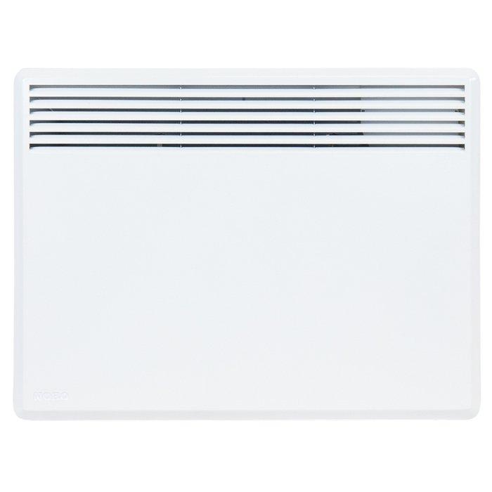 Конвектор электрический Nobo NFC4W 055 м? - 0.5 кВт<br>Электрический конвектор Nobo (Нобо) NFC4W 05   это новейшее климатическое устройство, разработанное с учетом всех мировых стандартов качества и надежности и предназначенное для комфортного и безопасного использования в бытовых условиях. Современный термостат позволяет с непревзойденной точностью настраивать температурные показатели воздуха в обслуживаемом помещении.<br>Особенности и преимущества электрических конвекторов Nobo серии Nordic NFС 4W:<br><br>Новинка 2016 года, которая пришла на смену популярным моделям Nordic C4E.<br>Новые конвекторы NFС 4W производятся с применением новейшей технологии ecoDesign, которая включает в себя новую электрическую схему и электронную систему управления повышенной надежности.<br>Принцип работы и внутренняя начинка остается как и у конвектора серии NFC N  и  S  Viking. Термостат не радиоуправляемый с установкой одной температуры. Электрический шнур имеет разъемное соединение с корпусом конвектора.<br>Усовершенствованные новые термостаты, которые предусмотрены для управления конвекторами данной серии, позволяют поддерживать температуру воздуха с максимальной точностью   до 0,1 С и снизить энергопотребление в режиме ожидания до 0,5 Вт.<br>Термостаты NCU 1R, NCU 2R, NCU ER. совместимы с системами управления Orion 700 и Energy Control, что позволяет объединить обогреватели в единую цепь и управлять конвекторами удаленно при помощи специального приложения для смартфонов и планшетов через Energy Control или Orion 700+GSM-модуль с помощью смс-сообщений.<br>Новые модели серии NFС 4W не совместимы с термостатами предыдущих поколений, но все функциональные возможности старых термостатов сохранены. Появились более информативные термостаты с жидкокристаллическим дисплеем NCU 2R, NCU 2Т.<br>Все конвекторы Nobo NFС 4W соответствуют классу защиты IP 24, что позволяет использовать обогреватели во влажных помещениях бытового назначения.<br>Внешнее отличие от предыдущих моделей Viking - логоти
