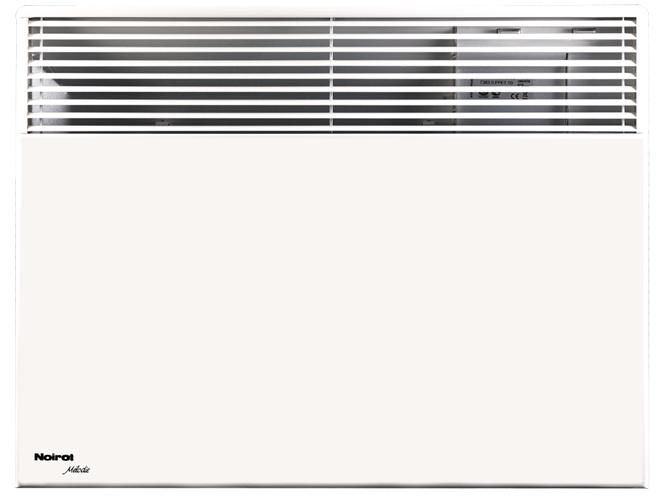 Конвектор электрический Noirot Melodie Evolution (низкий) 125012 м? - 1.2 кВт<br>Noirot Melodie Evolution 1250 является электрическим обогревателем конвективного типа, способным очень быстро прогреть комнату площадью до 15 метров квадратных. Качественная автоматика этого прибора выдерживает перепады напряжения в диапазоне от 150 до 242 Вольт.<br>Встроенный в конвектор блок управления позволяет Вам выбрать наиболее удобный для Вас режим работы. А электронный термостат будет точно поддерживать температуру на том значении, которое Вы зададите.<br>Основные характеристики товара:<br><br>Высокий КПД &amp;ndash; быстро прогревает помещение&amp;nbsp;<br>Низкий уровень шума при работе<br>Не сжигает и не сушит кислород в помещении<br>Безопасен в эксплуатации &amp;ndash; отсутствие острых углов, температура корпуса не выше 60&amp;deg;С<br>Может применяться как основной источник тепла, так и дополнительный<br>II класс электрозащиты<br>Брызгозащитное исполнение IP 24<br>Может работать круглосуточно<br>Наличие встроенного электронного термостата ASIC&amp;reg;<br>Точность поддержания температуры до 1&amp;deg;С<br>Встроенный блок управления на 5 режимов<br>Наличие функции авторестарта<br>Монолитная структура нагревательного элемента RX-Silence Plus&amp;reg;<br>Выдерживает скачки напряжения в сети от 150 В до 242 В<br>Возможность выбора прибора нужных размеров и мощности<br>Широкий диапазон использования<br>Возможна установка на колесики (приобретаются отдельно)<br>Достаточно мощный воздушный поток<br>Стильный дизайн<br><br>Основной принцип работы электрического конвектора Noirot Melodie Evolution заключается в естественной конвекции &amp;ndash; то есть, холодный воздух, находящийся внизу помещения, втягивается в конвектор и, при прохождении через его нагревательный элемент, нагревается, после чего выходит непосредственно в помещение, таким образом, сразу же обогревая его.<br>Особая конструкция этого нагревательного прибора полностью исключает образование шума при повышении и пониже