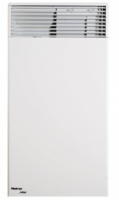Конвектор электрический Noirot Melodie Evolution (высокий) 175017 м? - 1.7 кВт<br>Купите электрический воздухонагреватель Melodie Evolution (высокий) 750 фирмы Noirot и обеспечьте себя и Ваших родных теплом и уютом в Вашем доме. Нагревательный элемент RX&amp;nbsp;Silence PLUS&amp;reg;, которым оснащен этот конвектор, изготовлен из одного металла и имеет специальное &amp;ldquo;ракушечное&amp;rdquo; покрытие, которое за счет увеличения площади поверхности способствует более быстрому прогреву воздуха. Абсолютно бесшумная работа этого отопительного прибора позволяет его устанавливать даже в спальнях или детских.<br>Основные характеристики товара:<br><br>Высокий КПД &amp;ndash; быстро прогревает помещение&amp;nbsp;<br>Низкий уровень шума при работе<br>Не сжигает и не сушит кислород в помещении<br>Безопасен в эксплуатации &amp;ndash; отсутствие острых углов, температура корпуса не выше 60&amp;deg;С<br>Может применяться как основной источник тепла, так и дополнительный<br>II класс электрозащиты<br>Брызгозащитное исполнение IP 24<br>Может работать круглосуточно<br>Наличие встроенного электронного термостата ASIC&amp;reg;<br>Точность поддержания температуры до 1&amp;deg;С<br>Встроенный блок управления на 5 режимов<br>Наличие функции авторестарта<br>Монолитная структура нагревательного элемента RX-Silence Plus&amp;reg;<br>Выдерживает скачки напряжения в сети от 150 В до 242 В<br>Возможность выбора прибора нужных размеров и мощности<br>Широкий диапазон использования<br>Возможна установка на колесики (приобретаются отдельно)<br>Достаточно мощный воздушный поток<br>Стильный дизайн<br><br>Основной принцип работы электрического конвектора Noirot заключается в естественной конвекции &amp;ndash; то есть, холодный воздух, находящийся внизу помещения, втягивается в конвектор и, при прохождении через его нагревательный элемент, нагревается, после чего выходит непосредственно в помещение, таким образом, сразу же обогревая его.<br>Особая конструкция этого нагревательного прибора полность