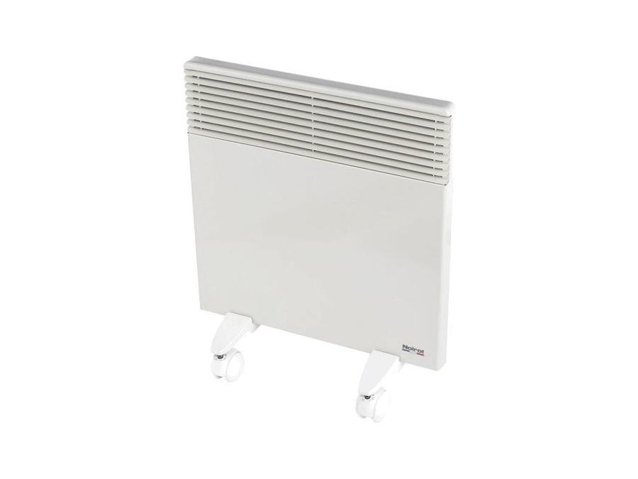 Конвектор электрический Noirot Spot E-3 Plus 7507 м? - 0.7 кВт<br>Электрический конвектор Noirot (Нойрот) Spot E-3 Plus 750 идеально послужит для обогрева небольшой площади и будет в течение многих лет работать со стабильной производительностью, эффективно и экономично расходуя электроэнергию, а также не требуя никакого обслуживания и всегда отличаясь полной безопасностью. Стальной корпус выполнен в белом цвете и защищен специальным покрытием.<br>Особенности и преимущества электрических конвекторов Noirot представленной серии:<br><br>Электрические обогреватели серии Spot Е-3 PLUS оснащены точным электронным термостатом с механическим управлением.<br>Лицевая панель покрыта прочной полимерной краской, а корпус полностью из нержавеющей стали, который защищен от тепловых деформаций.<br>Воздух в помещение нагреется за 45 секунд благодаря эффективному монолитному нагревательному элементу   RX-Silence Plus.<br>Ножки в комплекте.<br><br>Конвективные электрические обогреватели серии Spot E-3 Plus от Noirot с механической настройкой температуры и ультратонкими корпусами идеально подходят для применения в современных российских условиях эксплуатации и отличаются устойчивостью к различным внешним воздействиям, а также защищенностью от перегрева. Все модели могут беспрерывно работать в течение долгого времени. <br><br>Страна: Франция<br>Производитель: Франция<br>Mощность, Вт: 750<br>Площадь, м?: 10<br>Класс защиты: IP24<br>Настенный монтаж: Да<br>Термостат: Электронный<br>Тип установки: Настенная<br>Длина конвектора: 340<br>Высота конвектора: 440<br>Отключение при перегреве: Есть<br>Отключение при опрокидывании: Нет<br>Влагозащитный корпус IP44: Нет<br>Ионизатор: Нет<br>Дисплей: Нет<br>Питание В/Гц: 220/50<br>Размеры ВхШхГ: 440х340х80<br>Вес, кг: 3<br>Гарантия: 6 лет