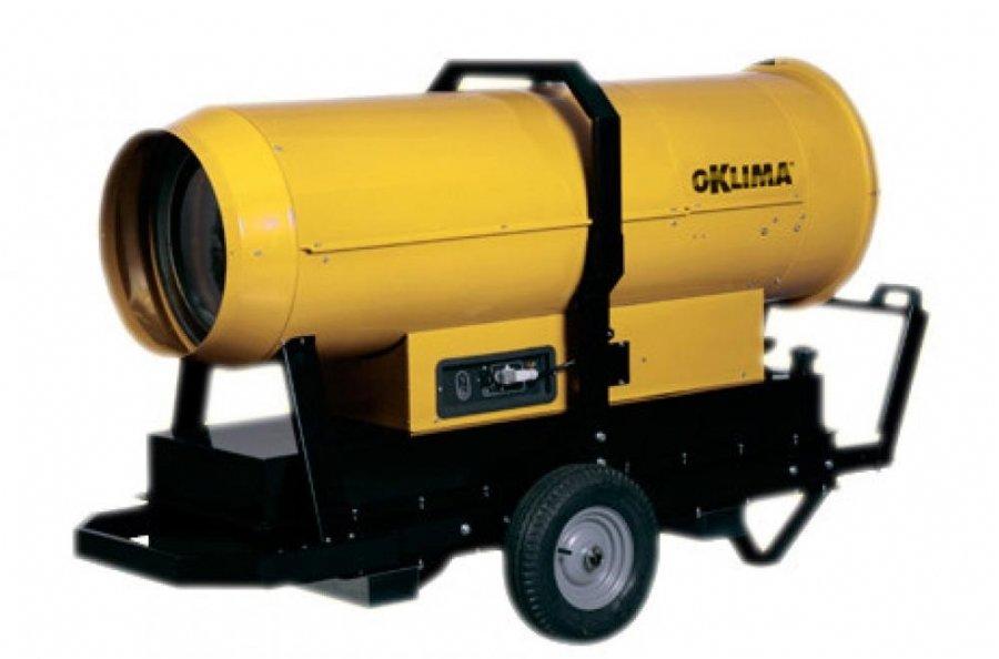 Тепловая пушка Oklima PH 400HCДизельные пушки<br>Дизельный нагреватель воздуха Oklima (Оклима) модели PH 400HC отличается высокой мощностью, и способен довольно быстро прогреть воздух в помещении площадью более 1000 квадратных метров. Для удобства в использовании на корпусе данной тепловой пушки предусмотрен разъем для подключения таймера, гигростата или терморегулятора.   <br>Основные преимущества дизельного нагревателя воздуха Oklima PH:<br><br>Горелка отдельная от вентилятора производства BM2 имеет мощность: позиция 1 -75 Квт, позиция 2 - 110 Квт.<br>Возможность работы нагревателя в режиме рециркуляции, что дает существенную экономию.<br>Разъем подключения термостата, гигростата или таймера.<br>Шнур питания с вилкой (1,5 м).<br>Камера сгорания из нержавеющей стали AISI 430 с четырьмя дымовыми ходами.<br>Термостат вентиляции: регулирует включение/выключение вентилятора при горячей/холодной камере сгорания.<br>Электронная система стабилизации пламени.<br>Предохранительный термостат, ограничительный термостат.<br>Топливные трубки из резины устойчивой к углеводородам в металлической оплетке.<br>Переключатель зима/лето для применения нагревателя в качестве вентилятора.<br>Крышка топливного бака с поворотным замком.<br><br>Жидкотопливные тепловые пушки Oklima серии PH оборудованы двухфазной дизельной горелкой ВМ2, которая обуславливает повышенную производительность оборудования при низком потреблении топлива. Также данные нагреватели воздуха оснащены предохранительным и ограничительным термостатами, которые отключают прибор при перегреве и любом нарушении в его работе, что обеспечивает высокий уровень безопасности и долгий период эксплуатации данных тепловых пушек. <br><br>Страна: Италия<br>Тип: Дизельный<br>Мощность, кВт: 110,02<br>Площадь, м?: 1100<br>Скорость потока м/с: None<br>Расход топлива, кг/час: 6,330  9,278<br>Расход воздуха, мsup3;/ч: 5300<br>Нагревательный элемент: Нет<br>Вместимость бака, л: 216<br>Регулировка температуры: Нет<br>Вентиляция без нагрева: Е