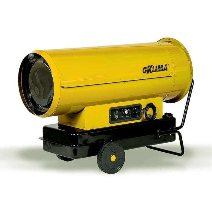 Дизельная пушка OklimaДизельные пушки<br>Oklima (Оклима) SD 240 является мощной дизельной пушкой на жидком топливе, имеющим КПД 100%. Корпус оборудования выполнен из высокопрочного металла, благодаря чему оборудование может использоваться в самых суровых условиях. Благодаря встроенной электронной системе контроля пламени дизельная пушка на жидком топливе имеет высокую безопасность в эксплуатации   при любых нарушениях во время работы горелки пламя автоматически гаснет.<br><br>Страна: Италия<br>Производитель: Италия<br>Мощность, кВт: 69,3<br>Тип: Дизельный<br>Площадь, м?: 693<br>Скорость потока м/с: None<br>Расход топлива, кг/час: 5,48<br>Расход воздуха, мsup3;/ч: 2500<br>Нагревательный элемент: Нет<br>Вместимость бака, л: 65<br>Регулировка температуры: Нет<br>Вентиляция без нагрева: Нет<br>Настенный монтаж: Нет<br>Влагозащитный корпус: Нет<br>Тип топлива: Дизель/керосин<br>Напряжение, В: 220 В<br>Вилка: Есть<br>Размеры ВхШхГ, см: 86х55,5х120<br>Вес, кг: 58<br>Гарантия: 1 год