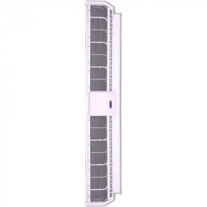Электрическая тепловая завеса Olefini KEH-24 VERT18 кВт<br>Модель воздушной завесы Olefini (Олефини) KEH-24 VERT предназначена для монтажа в дверных проемах, высота которых не превышает 5 метров. Благодаря высокому расходу воздуха агрегат подходит для обслуживания помещений с большой площадью. При изготовлении модели используются только высококачественные материалы, что подтверждают соответствующие сертификаты.<br>Особенности и преимущества:<br><br>Экономия электроэнергии.<br>Защита от пыли, насекомых.<br>Простой монтаж.<br>Низкий уровень шума.<br>Современный дизайн.<br>Ступени мощности 0/33/66/100.<br>Класс защиты IP20.<br>Различные комплектации систем управления.<br><br>Серия воздушных завес в вертикальном исполнении Olefini 133 INDUSTRIAL VERT разработана для обслуживания помещений с большой площадью. Модели оснащены мощными вентиляторами, эффективно выполняющими свои функции. Каждая модель из серии проходит обязательный контроль качества на заводе производителя. Оборудование выполнено из высокопрочных материалов, устойчивых к воздействию окружающей среды.<br><br>Страна: Греция<br>Производитель: Греция<br>Тип: Электрическая<br>Термостат в комплекте: Нет<br>Расход воздуха, мsup3;/ч: 2815<br>Max высота, м: 5,0<br>Мощность, кВт: 18,0<br>Установка завесы: Вертикальная<br>Регулировка температуры: Есть<br>Вентиляция без нагрева: Есть<br>Ширина завесы, м: 1,2<br>Пульт: Есть<br>Напряжение, В: 380 В<br>Вилка: Нет<br>Габариты ВхШхГ, см: 22,7x125,9x30,6<br>Вес, кг: 40<br>Гарантия: 1 год<br>Ширина мм: 1259<br>Высота мм: 227<br>Глубина мм: 306