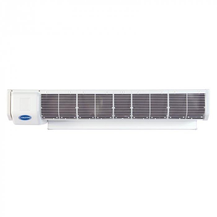 Электрическая тепловая завеса Olefini REH-3312 кВт<br>Olefini REH-33 представляет собой воздушно-тепловую завесу, позволяющую при невысоких затратах электроэнергии обеспечить эффективную защиту помещения от попадания в него настывшего и пыльного воздуха извне. Мощный поток прогретого воздуха, создаваемый оборудованием над входным проемом, препятствует потери тепла при частом открывании двери и тем самым способствует повышению эффективности отопительной системе помещения.<br>Особые преимущества тепловых завес Olefini серии 120  GENERAL :<br><br>Низкий уровень энергопотребления<br>Быстрый нагрев воздуха<br>Выбор мощности нагрева (33% - 66% - 100%)<br>Высокий уровень надежности и безопасности<br>Вентилятор CROSS FLOW диаметром 120 мм<br>Простота в установке и эксплуатации<br>Проводной пульт ДУ<br>Низкие шумовые характеристики<br>Современный дизайн корпуса<br>Класс электрозащиты IP20<br><br>Тепловые завесы Olefini (Олефини) модельного ряда 120  GENERAL  оборудованы высококачественным нагревательным элементом трубчатого типа, который способен очень быстро прогревать воздух, подаваемый на него мощным вентилятором. Несмотря на свою высокую эффективность работы, данное оборудование потребляет совершенно немного электроэнергии и не создает сильного звукового давления, что делает использование этой завесы удобным и приятным.<br><br>Страна: Греция<br>Производитель: Греция<br>Тип: Электрическая<br>Термостат в комплекте: Нет<br>Расход воздуха, мsup3;/ч: 2320<br>Max высота, м: 3,5<br>Мощность, кВт: 12<br>Установка завесы: Горизонтальная<br>Регулировка температуры: Есть<br>Вентиляция без нагрева: Есть<br>Ширина завесы, м: 1,149<br>Пульт: Нет<br>Напряжение, В: 380 В<br>Вилка: None<br>Габариты ВхШхГ, см: 20,5х114,9х27,7<br>Вес, кг: 28<br>Гарантия: 1 год<br>Ширина мм: 1149<br>Высота мм: 205<br>Глубина мм: 277