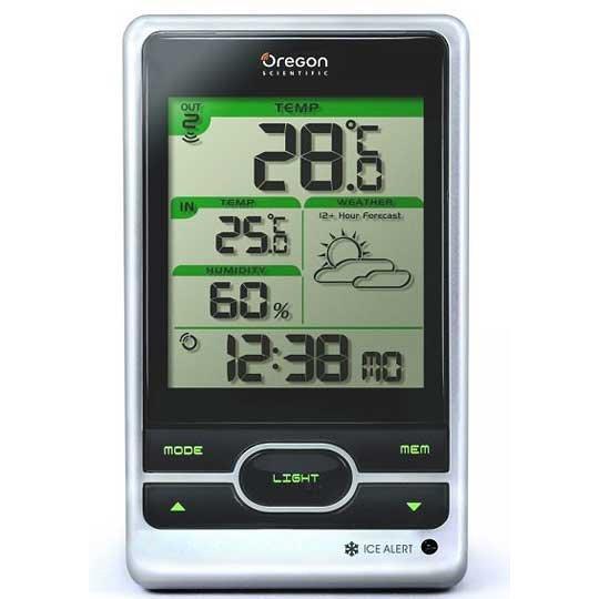 Автоматическая метеостанция Oregon BAR206С радиодатчиком<br>Давно искали современную замену обычному бытовому термометру? Правильное решение прямо перед вами   автоматическая мини-метеостанция для дома Oregon (Орегон) BAR206 имеет привлекательные характеристики и достойный набор полезных функций, с помощью которых можно с комфортом получить не только сведения о температурном показателе воздуха внутри и снаружи, но и узнать точное время, дату и даже измерить атмосферное давление.<br><br>Страна: США<br>Диапазон темп. t, С: 40+60<br>Диапазон p, мм. рт. ст.: None<br>Диапазон rH, : 2595<br>Разрешение t, С: 0.1<br>Цвет корпуса: Серебристый<br>Питание, В: Батарейки<br>Колво батареек: 3<br>Тип батарейки: AA<br>Адаптер к 220В: Есть<br>В комнате t, С: Да<br>За окном t, С: Да<br>Влажность в помещении: Да<br>Влажность за окном: Да<br>Давление: Нет<br>Прогноз погоды: Да<br>Лунный календарь: Нет<br>Размер, мм: 94x164x49<br>Вес, кг: 1<br>Гарантия: 1 год<br>Ширина мм: 164<br>Высота мм: 94<br>Глубина мм: 49