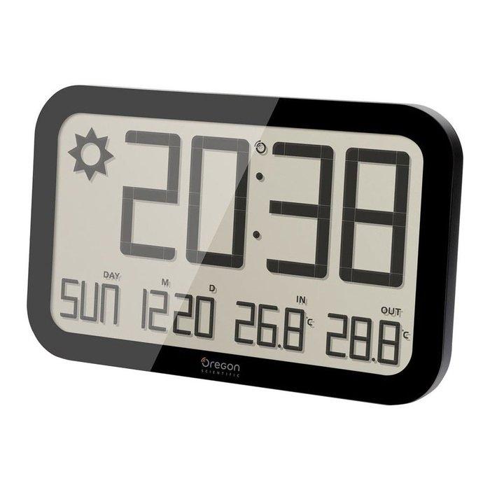 Часы без проекции Oregon JW108Часы без проекции<br>Часы-метеостанция с возможностью крепления на стене Oregon (Орегон) JW108 &amp;mdash; это привлекательная возможность всегда быть в курсе прогноза погоды и получать информацию про температурный режим внутри жилого помещения или снаружи. Изделие отличается лаконичным и надежным исполнением, позволяет узнать текущее время или дату с помощью встроенного календаря. Экран жидкокристаллический.<br>Основные достоинства рассматриваемой модели настенных часов Oregon:<br><br>Прогноз погоды на ближайшие 12-24 часа в радиусе 30 км<br>Измерение температуры в помещении и на улице<br>Радиоконтролируемые часы и календарь<br>Размер: 39 х 24,5 x 2.5 см<br>Возможность крепления на стене<br><br>Часы от бренда Oregon &amp;mdash; это визуально-привлекательные изделия, выполненные в современном стиле, в которых заложены большие функциональные возможности. Каждая модель часов отличается качественными материалами изготовления и стильным дизайном. В семействе предусмотрены модели, которые дополнительно оснащены функцией будильника, термометра или FM-радио.<br><br>Страна: США<br>Питание, В: Батарейки<br>Тип батарейки: АА<br>Колво батареек: 4<br>Адаптер к 220В: Нет<br>С будильником: Да<br>Радиодатчик: Да<br>С метеостанцией: Да<br>В помещении t, С: Да<br>За окном t, С: Да<br>Влажность в помещении: Нет<br>Влажность за окном: Нет<br>Давление: Нет<br>Прогноз погоды: Нет<br>Габариты, мм: 390х245x25<br>Вес, кг: 1<br>Гарантия: 1 год<br>Ширина мм: 245<br>Высота мм: 390<br>Глубина мм: 25