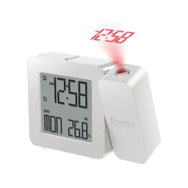 Проекционные часы Oregon RM338P-wКрасная проекция<br>Многофункциональные часы настольные с проекцией Oregon (Орегон) RM338P-w &amp;mdash; это достойное вашего внимания устройство, которое очень удобно использовать в бытовых условиях в различных целях. Прибор подскажет вам текущее время &amp;mdash; и для этого не обязательно менять положение головы, что очень актуально утром или ночью, когда вы находитесь в постели. Проектор позволяет вывести текущее время на потолок. Белые настольные часы RM338P-w &amp;ndash; современный аксессуар.<br><br>Страна: США<br>Питание, В: Сеть/Бат.<br>Тип батарейки: ААА<br>Колво батареек: 2<br>Адаптер к 220В: Есть<br>С будильником: Да<br>Радиодатчик: Да<br>С метеостанцией: None<br>В помещении t, С: Да<br>За окном t, С: Нет<br>Влажность в помещении: Нет<br>Влажность за окном: Нет<br>Давление: Нет<br>Прогноз погоды: Нет<br>Габариты, мм: 108x77x26<br>Вес, кг: 1<br>Гарантия: 1 год<br>Ширина мм: 77<br>Высота мм: 108<br>Глубина мм: 26