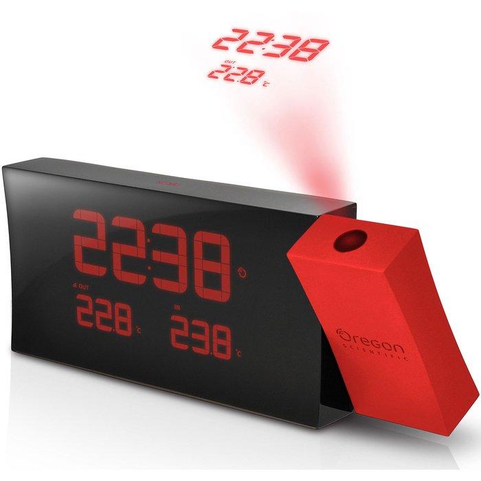 Часы с проекцией на стену Oregon RMR221PNКрасная проекция<br>Информацию о текущем времени перенести на стену или на потолок помогут часы с термометром Oregon (Орегон) RMR221PN.  Часы будильник с проекцией сочетает в себе функциональность и лаконичность, станет достойным дополнением других ваших электронных устройств для домашнего использования.<br><br>Страна: США<br>Питание, В: Сеть/Бат.<br>Тип батарейки: ААА<br>Колво батареек: 2<br>Адаптер к 220В: Есть<br>С будильником: Да<br>Радиодатчик: Да<br>С метеостанцией: Да<br>В помещении t, С: Да<br>За окном t, С: Да<br>Влажность в помещении: Нет<br>Влажность за окном: Нет<br>Давление: Нет<br>Прогноз погоды: Нет<br>Габариты, мм: 22х200х80<br>Вес, кг: 1<br>Гарантия: 1 год<br>Ширина мм: 200<br>Высота мм: 22<br>Глубина мм: 80