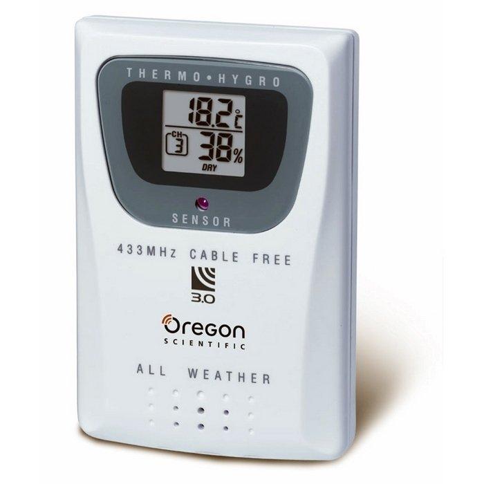 Дистанционный термо / гигродатчик Oregon THGR810Радиодатчики<br>Oregon THGR810 &amp;ndash; это простой в управлении современный дистанционный термо / гигродатчик погодных условий, передающий на метеостанцию информацию о температуре и относительной влажности воздушных масс. Электронный вариант управления. С выносным датчиком Oregon THGR810ваша погодная станция станет технически усовершенствована.<br><br>Производитель: США<br>Страна: Китай<br>Диапазон  t, С: 40+60<br>Макс. удаление, м: 100<br>Питание, В: Батарейки<br>Тип батарейки: ААА<br>Колво батареек: 2<br>Назначение: Нет<br>Вес, кг: 1<br>Гарантия: 1 год
