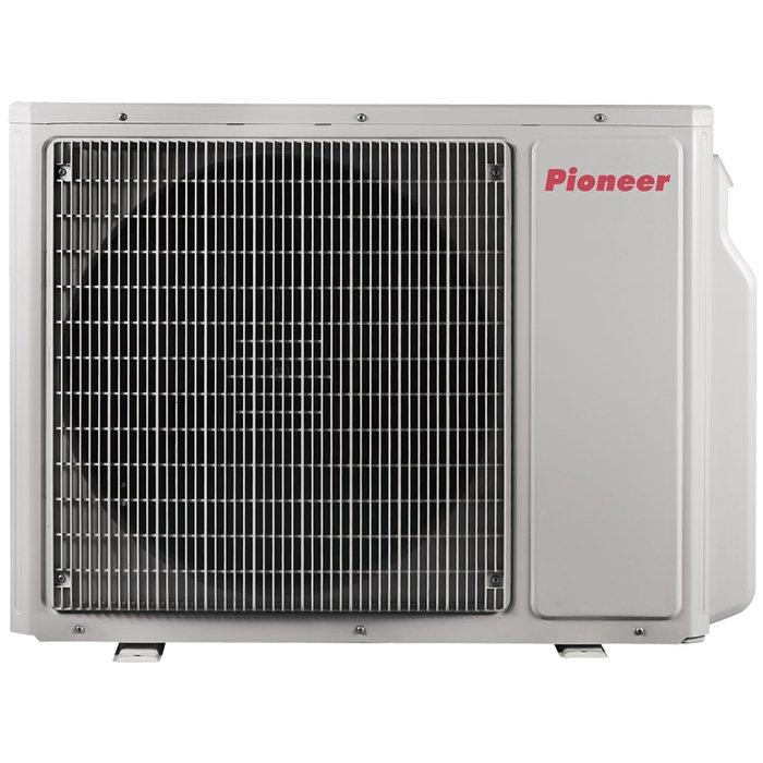 Внешний блок мульти сплит-системы Pioneer 5MSHD42A5 комнат<br>Наружный блок мульти сплит-систем Pioneer (Пионер) 5MSHD42A был изготовлен с учетом всем современных европейских стандартов качества и способен стабильно и производительно эксплуатироваться в течение долгих лет при различных погодных условиях. Блок оборудован компрессором инверторного типа, что позволило добиться максимальной энергоэффективности устройства и снизить уровень издаваемого шума.<br>Особенности и преимущества мульти сплит-систем Pioneer<br><br>Инверторный компрессор Mitsubishi повышенной эффективности.<br>Высокая энергоэффективность системы.<br>Режим самодиагностики.<br>Гибкость в проектировании<br>Широкий выбор внутренних блоков<br>Широкий диапазон рабочих температур<br>Антикоррозийные свойства Gold Fin препятствуют снижению эффективности работы наружного блока в течение длительной эксплуатации.<br>Не нужно прокладывать отдельную трансмиссионную линию. Обмен данными между внутренними и наружным блоком происходит по отдельной жиле в силовом кабеле, отвечающем за подачу силового Электропитания от наружного к внутреннему блоку.<br>Фланцевые соединения (вместо сварки / пайки) для простоты монтажа.<br>Доставка оборудования на крышу здания может быть осуществлена с помощью грузового лифта, без привлечения специальных погрузчиков.<br><br>Мульти сплит-системы Pioneer предназначены для широкого применения в городских квартирах и офисах, а также в загородных коттеджах, где существует необходимость создания оптимальных климатических условий одновременно в нескольких помещениях. Данная серия включает в себя кондиционеры с инверторными наружными блоками различной производительности, к которым возможно осуществить подключения 2-5 внутренних блоков в зависимости от комплектующих особенностей каждой модели.<br><br>Охлаждение вн.блока,кВт: None<br>Страна: Япония<br>Обогрев вн.блока, кВт: None<br>Производитель: Китай<br>Площадь вн.блока, м?: None<br>Компрессор: Инвертор<br>Площадь, м?: 115<br>Уровень шума, дБа