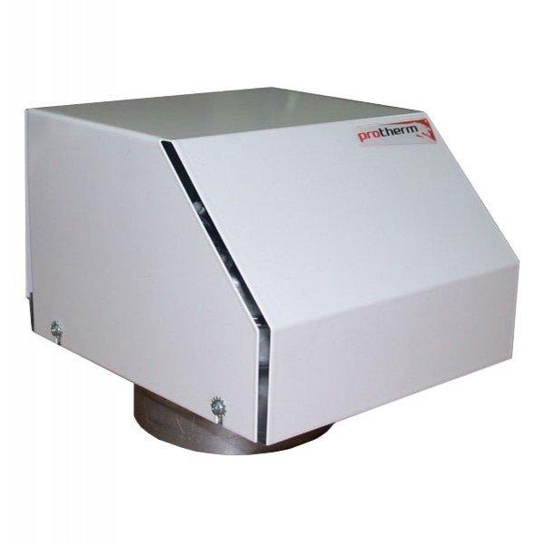 Надставка для котлов  Protherm PT 20Надставки<br>Надставка для котлов  PROTHERM  PT 20 представляет собой специальный аксессуар для принудительного отвода дымовых газов. Изделие устанавливается на отводящий патрубок котла. Надставка оснащена вентилятором и элементом безопасности.<br>Технические параметры:<br><br>Тип: полутурбо.<br>Мощность надставки: возможность протока до 120 м3 /час.<br>Повышение проточного давления: до 250 Па.<br>Потребляемая мощность: до 40 Вт.<br>Напряжение/частота: 230В/50Гц.<br>Длина приводящего кабеля: 1 м.<br>Вес: 3,5 кг.<br>Размеры: 190 х 200 х 220 мм.<br>Присоединительный размер: 130 мм.<br>Тип отводящего трубопровода: отделенные однослойные.<br>Номинальный диаметр отводящего трубопровода: 80 мм.<br>Максимальная длина отводящего трубопровода: 10 экв.м.<br><br><br>Страна: Словакия<br>Производитель: Словакия<br>Дисплей: Нет<br>Вес, кг: 4<br>Гарантия: 2 года