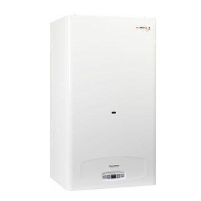 Котел Protherm Panther 30 КTV32 кВт<br>Усовершенствованный настенный газовый котел  ProthermPanther 30 КTV  оснащен микропроцессором с электронным управлением. Техника предназначена для отопления и нагрева ГВС проточным способом или в отдельно предусмотренный нагревательный бак. Важным преимуществом прибора является коаксиальная система функционирования, с помощью которой пользователь может подключить технику без использования дымохода. Защита от замерзания и от перегрева увеличивает эксплуатационный ресурс. <br>Преимущества и функциональные особенности отопительной модели Protherm Panther:<br><br>Котел оборудован микропроцессором<br>Электронное управление<br>Плавное регулирование мощности<br>Максимальная точность соответствия расхода топлива и электроэнергии заданному температурному режиму<br>Контроль защиты от замерзания и от перегрева<br>Контроль защиты насосной системы от заклинивания<br>Режим контроля  Зима-Лето <br>Контроль выбега насосной системы<br>Режим антициклирование <br>ЖК-дисплей<br>Предохранительная арматура<br>Контролируемая система тяги дымохода<br>Нагрузки контура отопления и ГВ полностью регулируется<br>ЕСО   имеется высокоэкономичный режим для подготовки ГВ<br>Имеется газовая атмосферная горелка<br><br>Настенный газовый котел  Protherm серия Panther  комплектуется удобный электронным управлением.Предусмотрена газовая атмосферная горелка, благодаря такой комплектации пользователь имеет расширенные функциональные возможности в управлении. Высокий уровень безопасности, нагрузки контура отопления и ГВ контролируются. Известный европейский производитель использует высококачественный исходный материал, структура которого обладает превосходной устойчивостью перед образованием коррозии. Благодаря продуманному подходу ко всем производственным этапам отопительное оборудование стало популярным в своей области, а самое главное надежность и производительность соответствует заявленной цене. Отличный вариант для квартир и дачных домиков, эффективный обогрев с п