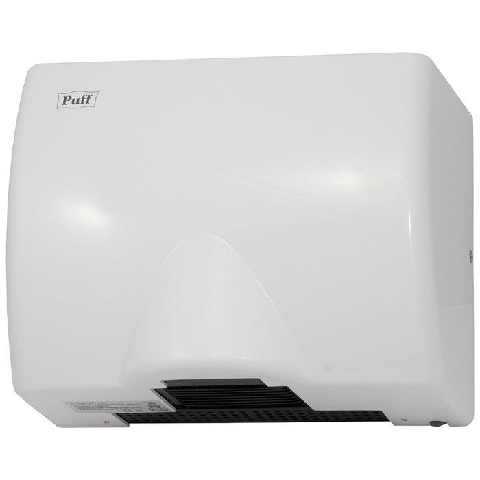 Сушилка для рук Puff 8812Пластиковые<br>Для дома или участков коммерческого типа прекрасным приобретением станет электросушитель модели Puff-8812. Рассматриваемое устройство создает мощный воздушный поток оптимальной температуры, эффективно и безопасно суша руки. Пластиковый корпус данной модели отличается компактностью и передовым дизайном, а также имеет высокую устойчивость к различным внешним воздействиям.<br>Особенности и преимущества сушки для рук Puff:<br><br>Прочный корпус с увеличенной толщиной стенок.<br>Стильный внешний облик.<br>Эргономичная конструкция.<br>Удобство эксплуатации.<br>Простое управление.<br>Автоматическая работа.<br><br>Электросушители для рук Puff   то широкая линейка разнообразных изделий для установки на общественных и жилых объектах. Высокое качество материала, передовая комплектация и эффективная шумоизоляция свойственны всем моделям от данного производителя. Электросушителя также совершенно не требуют обслуживания и отличаются невероятной простотой использования. <br><br>Страна: Россия<br>Мощность, кВт: 1,05<br>Материал корпуса: Пластик<br>Поток воздуха м/с: 16<br>Степень защиты: IPX1<br>Цвет корпуса: Белый<br>Минимальный уровень шума, дБа: 70<br>Объем воздушного потока, м3/час: None<br>Средняя скорость высушивания, сек: 16<br>Температура воздушного потока, С: 65<br>Размеры, мм: 205x263x130<br>Вес, кг: 3<br>Гарантия: 2 года