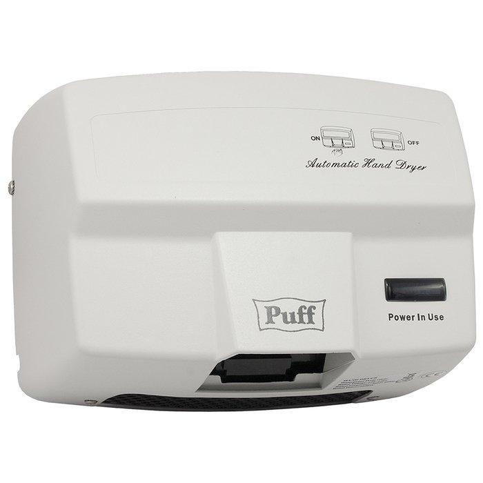 Настенная сушилка для рук Puff 8842Антивандальные<br>Электросушитель для рук Puff-8842   это новейшее и комфортное в использовании оборудование, преимущественно применяемое на участках с большой проходимостью посетителей. Эргономичный дизайн сушителя не привлекает внимания и подходит к любому современному или строгому интерьеру; также производитель позаботился об изоляции корпуса для снижения шумового уровня.<br>Особенности и преимущества сушки для рук Puff:<br><br>Прочный корпус с увеличенной толщиной стенок.<br>Стильный внешний облик.<br>Эргономичная конструкция.<br>Удобство эксплуатации.<br>Простое управление.<br>Автоматическая работа.<br><br>Электросушители для рук Puff   то широкая линейка разнообразных изделий для установки на общественных и жилых объектах. Высокое качество материала, передовая комплектация и эффективная шумоизоляция свойственны всем моделям от данного производителя. Электросушителя также совершенно не требуют обслуживания и отличаются невероятной простотой использования. <br><br>Страна: Россия<br>Мощность, кВт: 1,65<br>Материал корпуса: Нержавеющая сталь<br>Поток воздуха м/с: 16<br>Степень защиты: IPX1<br>Цвет корпуса: Белый<br>Минимальный уровень шума, дБа: None<br>Объем воздушного потока, м3/час: None<br>Средняя скорость высушивания, сек: None<br>Температура воздушного потока, С: 60<br>Размеры, мм: 230x275x200<br>Вес, кг: 5<br>Гарантия: 2 года