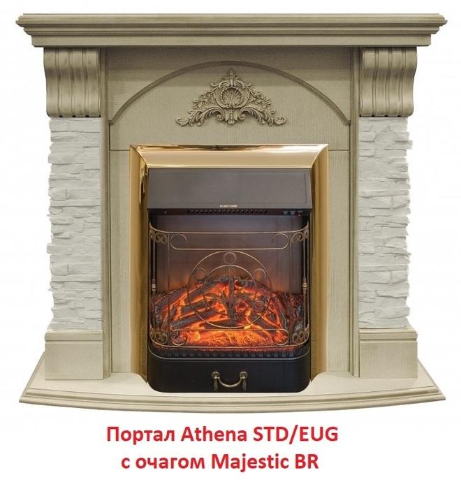 Камин Real-Flame ATHENA STD/EUGПорталы из дерева<br>Real Flame (Реал Флейм) ATHENA STD/EUG &amp;ndash; это качественнее материалы изготовления, великолепный дизайн и доступная каждому стоимость. Рассматриваемая модель выполнена в традиционном пристенном варианте, имеет компактные размеры, и, что немало важно &amp;ndash; оставляется в собранном виде, готовым к установке. Любителей классики порадует шикарное цветовое решение &amp;ndash; белый дуб с золотыми элементами декора.&amp;nbsp;<br>Особенности и преимущества деревянного портала для электрокамина от Real-Flame представленной модели:<br><br>Материалы изготовления: МДФ, натуральный шпон.<br>Пристенный фронтальный вариант установки.<br>Стильный эргономичный дизайн.<br>Компактные размеры.<br>Высокое качество материалов и сборки.<br>Простота в уходе.<br>Портал устойчив к разрушающему воздействию солнечных лучей и небольших механических повреждений.<br>Несложный монтаж, не требующий профессиональных навыков.<br>Подходит для комплектации электрическими топками от одноименного бренда.<br>Очаг для портала необходимо приобрести отдельно.<br><br>Новое семейство каминных порталов от популярной торговой марки Real-Flame &amp;ndash; это высокие технологии производства, только качественные материалы и длительный срок эксплуатации. В нашем интернет-каталоге представлен широкий ассортимент моделей, где каждый пользователь сможет подобрать обрамление, которое идеально впишется в его интерьер. Новинки исполнены в универсальном &amp;ndash; для установки в угол или у стены и в классическом фронтальном варианте.<br><br>Страна: Канада<br>Материал портала: МДФ/нат. шпон<br>Цвет: Белый дуб с золотом<br>Тип портала: Фронтальный<br>ГабаритыВШГ,мм: 1000х1050х410<br>Вес, кг: 68<br>Гарантия: 1 год