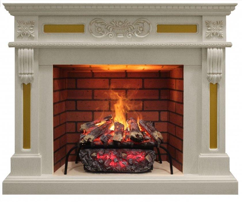 Камин Real-Flame Corsica 26 WT с очагом 3D Silva log+Brick вставка 26Каминокомплекты<br>Real Flame (Реал Флэйм) Corsica 26 WT с очагом 3D Silva log+Brick вставка 26   это крайне эргономичный электрокамин, имеющий симпатичный дизайн и предназначенный для украшения интерьера и обогрева помещения. Выполнен из высококачественный материалов и компонентов, благодаря чему прослужит вам на протяжении долгих лет. Имеет несколько ламп накаливания.<br>Особенности и преимущества Corsica 26 WT с очагом 3D Silva log:<br><br>3D технология пламени<br>Великолепный дизайн<br>Функция увлажнения пламени<br>Пульт дистанционного управления<br>Эффект живого пламени<br>Регулировка высоты пламени<br>Минимальный уход<br><br>Серия электрокаминов Corsica 26 WT от компании Real Flame отличается от других электрокаминов своим красивейшим дизайном, а также тем, что может не только украшать помещение, но также и обогревать его. Для обогрева помещения электрокамин имеет два режима обогрева, разница между которыми заключается в мощности, а также энергопотреблении.<br><br>Страна: Россия<br>Материалы портала: МДФ+шпон<br>Мощность, кВт: 0,16<br>Обогреватель: Нет<br>Фильтр очистки воздуха: Нет<br>Пламя Optiflame: Есть<br>Эффект топлива: Дрова<br>Цвет: Дуб белый<br>Потрескивание: Нет<br>Пульт: Есть<br>Дисплей: Нет<br>Тип камина: Электрический<br>ГабаритыВШГ,мм: 1035х1215х360<br>Вес, кг: 48<br>Гарантия: 1 год