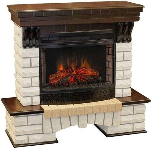 Камин Real-Flame Country 25 + Firespace 25  IR SКаминокомплекты<br>Торговая марка Real-Flame представляет модель Country 25 + Firespace 25 IR S &amp;ndash; комплект облицованного искусственным камнем декоративного портала с технологичным очагом, оснащенным дополнительным функционалом: возможностью обогрева в инфракрасном спектре. Стоит отметить, что очаг имитирует не только живое пламя, но также и звук трескающихся от жара поленьев, что создает полную иллюзию настоящего огня.<br>Доступные цвета: античный дуб, белый.<br>Особенности и преимущества электрических каминокомплектов от компании Real-Flame:<br><br>Стильный, роскошный внешний вид.<br>Портал камина имеет отделку шпоном натуральных пород древесины.<br>Материал изготовления &amp;ndash; МДФ высокого качества.<br>Эффект горения живого пламени по запатентованной технологии.<br>Реалистичные муляжи поленьев.<br>Точная копия каминной кладки внутри очага.<br>Реализована возможность настройки эффекта горения и тления дров.<br>Деликатный обогрев в инфракрасном спектре.<br>100% гарантия качества и долговечности.<br>Комплектуется пультом дистанционного управления.<br><br>Производство каминов компании Real-Flame постоянно развивается, модельные ряды пополняются все более новыми, комфортными в эксплуатации современными приборами. Предлагаем вашему вниманию только лучшие модели каминных комплектов от данного производителя, которые осуществляют работу от бытовой сети электричества, что в свою очередь упрощает монтаж и время его проведения. Серия каминокомплектов от Real-Flame представлена широким модельным рядом, где приборы выполнены в различном стиле, отличаются цветовым решением, а также&amp;nbsp; набором функций и возможностей. При этом каждая модель отличается высоким качеством,&amp;nbsp; безопасностью и длительным сроком эксплуатации.<br><br>Страна: Россия<br>Материалы портала: МДФ/нат. шпон<br>Мощность, кВт: 2,0<br>Обогреватель: Есть<br>Фильтр очистки воздуха: Нет<br>Пламя Optiflame: None<br>Эффект топлива: Дрова<br>Цв