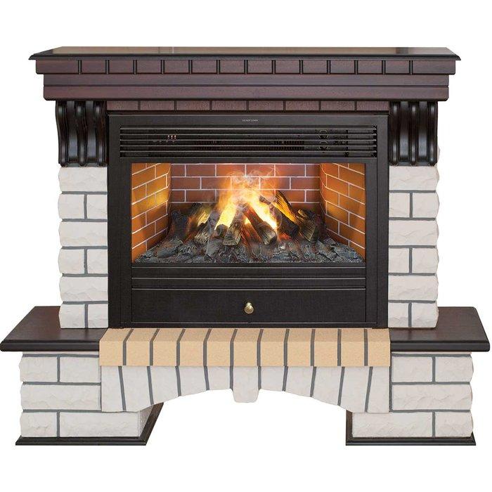 Камин Real-Flame Country 26 AO с очагом 3D Novara 26Каминокомплекты<br>Электрокамин модели Real Flame (Реал Флейм) Country 26 AO с очагом 3D Novara 26 оснащен новейшим очагом с высокотехнологичной комплектацией, который способен воссоздавать имитацию живого горения дров, а также позволяет пользователю производить настройку высоты пламени. Также данное устройство положительно воздействует на уровень влажности воздуха в комнате.<br>Особенности и преимущества готовых решений электрических каминов Real-Flame:<br><br>Привлекательный внешний вид.<br>Отсутствует потребность в дымоходе.<br>Нет дополнительных материальных затрат в процессе монтажа.<br>Прочное стекло, которое не нагревается.<br>Высокий уровень пожаробезопасности.<br>Высококачественные исходные материалы.<br>Портал не облазит и не портится от воздействия солнечных лучей.<br>Реалистичный огонь.<br>Рядом стоящие предметы интерьера не нагреваются.<br>Безопасность эксплуатации.<br>Комфорт использования.<br><br>Особенности и преимущества очага Real Flame 3D Novara 26:<br><br>Электрический очаг с эффектом пламени 3D нового поколения. Модель 2015 года.<br>Абсолютно реалистичный эффект пламени.<br>Мощность на обогрев - до 1,8 кВт.<br>Мощность в декоративном режиме 140Вт (4 галогеновые лампы по 35Вт каждая).<br>Помимо звука горения дров, в очаге используется термостат для поддержания заданной температуры в помещении.<br>Очаг с функцией увлажнения воздуха.<br><br>Электрический камин Real Flame &amp;ndash; это отличная альтернатива дровяным печам. Такие приборы смогут создать иллюзию настоящего огня, который вы вряд ли отличите от настоящего. Однако электрические камины имеют множество преимуществ перед дровяными &amp;laquo;собратьями&amp;raquo;. Во-первых, это отсутствие продуктов сгорания, что означает &amp;ndash; такие камины не нуждаются в дымоходных трубах. Во-вторых, вам не нужно заботиться о наличии топлива (дров или угля), а также производить обязательную регулярную чистку зольников и топочных камер. В-третьих, э