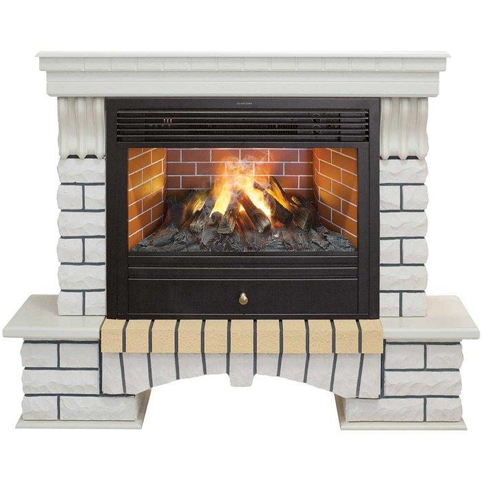 Камин Real-Flame Country 26 WT с очагом 3D Novara 26Каминокомплекты<br>Элегантный современный электрокамин Real Flame (Реал Флейм) Country 26 WT с очагом 3D Novara 26 идеально вписывается в интерьер помещения, дополняет его в качестве изящного и стильного предмета декора, а также исполняет роль дополнительного источника тепла и помогает в организации комфортного микроклимата. Вошедший в комплект передовой пульт ДУ обеспечивает комфорт при эксплуатации. &amp;nbsp;<br>Особенности и преимущества готовых решений электрических каминов Real-Flame:<br><br>Привлекательный внешний вид.<br>Отсутствует потребность в дымоходе.<br>Нет дополнительных материальных затрат в процессе монтажа.<br>Прочное стекло, которое не нагревается.<br>Высокий уровень пожаробезопасности.<br>Высококачественные исходные материалы.<br>Портал не облазит и не портится от воздействия солнечных лучей.<br>Реалистичный огонь.<br>Рядом стоящие предметы интерьера не нагреваются.<br>Безопасность эксплуатации.<br>Комфорт использования.<br><br>Особенности и преимущества очага Real Flame 3D Novara 26:<br><br>Электрический очаг с эффектом пламени 3D нового поколения. Модель 2015 года.<br>Абсолютно реалистичный эффект пламени.<br>Мощность на обогрев - до 1,8 кВт.<br>Мощность в декоративном режиме 140Вт (4 галогеновые лампы по 35Вт каждая).<br>Помимо звука горения дров, в очаге используется термостат для поддержания заданной температуры в помещении.<br>Очаг с функцией увлажнения воздуха.<br><br>Электрический камин Real Flame &amp;ndash; это отличная альтернатива дровяным печам. Такие приборы смогут создать иллюзию настоящего огня, который вы вряд ли отличите от настоящего. Однако электрические камины имеют множество преимуществ перед дровяными &amp;laquo;собратьями&amp;raquo;. Во-первых, это отсутствие продуктов сгорания, что означает &amp;ndash; такие камины не нуждаются в дымоходных трубах. Во-вторых, вам не нужно заботиться о наличии топлива (дров или угля), а также производить обязательную регулярную чистку зол