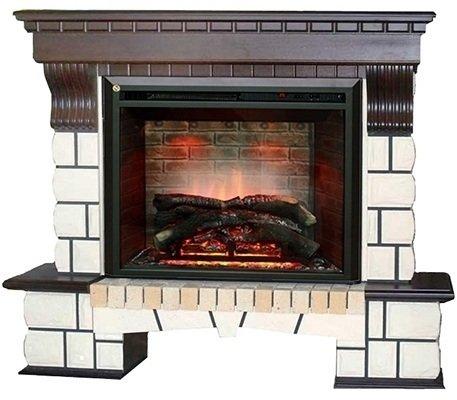 Камин Real-Flame Country 26 AO + Leeds 26 DDКаминокомплекты<br>Готовый комплект Country 26 + Leeds 26 DD &amp;ndash; это декоративный портал и электрический очаг от компании Real-Flame. Оборудование безопасно и удобно, а по эстетическим качествам ничуть не уступает своим дровяным &amp;laquo;коллегам&amp;raquo;. Напротив, электрический камин сможет создать настолько реалистичную картину живого огня, что вы не заметите подмены.<br>Доступные цвета: античный дуб, белый.<br>Особенности и преимущества электрических каминокомплектов от компании Real-Flame:<br><br>Стильный, роскошный внешний вид.<br>Портал камина имеет отделку шпоном натуральных пород древесины.<br>Материал изготовления &amp;ndash; МДФ высокого качества.<br>Эффект горения живого пламени по запатентованной технологии.<br>Реалистичные муляжи поленьев.<br>Точная копия каминной кладки внутри очага.<br>Реализована возможность настройки эффекта горения и тления дров.<br>Малошумный тепловентилятор.<br>100% гарантия качества и долговечности.<br>Комплектуется пультом дистанционного управления.<br><br>Производство каминов компании Real-Flame постоянно развивается, модельные ряды пополняются все более новыми, комфортными в эксплуатации современными приборами. Предлагаем вашему вниманию только лучшие модели каминных комплектов от данного производителя, которые осуществляют работу от бытовой сети электричества, что в свою очередь упрощает монтаж и время его проведения. Серия каминокомплектов от Real-Flame представлена широким модельным рядом, где приборы выполнены в различном стиле, отличаются цветовым решением, а также&amp;nbsp; набором функций и возможностей. При этом каждая модель отличается высоким качеством,&amp;nbsp; безопасностью и длительным сроком эксплуатации.<br><br>Страна: Россия<br>Материалы портала: МДФ/нат. шпон<br>Мощность, кВт: 2,0<br>Обогреватель: Есть<br>Фильтр очистки воздуха: Нет<br>Пламя Optiflame: None<br>Эффект топлива: Дрова<br>Цвет: Мульти<br>Потрескивание: Нет<br>Пульт: Есть<br>Дисплей: Нет<br