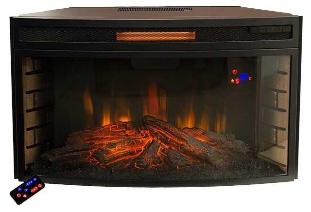 Камин Real-Flame Firespace 33 S IRОчаги широкие<br>Широкий электрический очаг модели Firespace 33 S IR &amp;ndash; это новинка от компании Real Flame. Представленная модель является современным инфракрасным обогревателем, который обеспечит вам дополнительное тепло. Очаг удобен и безопасен, а в арсенале его достоинств регулировка мощности обогрева и интенсивности подсветки, программируемый таймер на отключение, а также невероятно реалистичная картина огня.<br>Преимущества представленной модели широкого электрического очага:<br><br>Искусный муляж дров обеспечивают реалистичную имитацию горящей топки с ярким разноцветным пламенем.<br>Панорамное стекло, открывающее вид на великолепную картину пламени.<br>Светодиодная технология.<br>Пять уровней пламени.<br>Выключение с затуханием огня.<br>Обогрев до 1.8кВт.<br>Таймер на отключение.<br>Инфракрасный обогрев.<br>Декоративный режим без обогрева.<br>Экономичное энергопотребление.<br>Безопасность и удобство использования.<br><br>Семейство широких электрических очагов от бренда-производителя Real Flame превышают размеры классической топки и выглядят гораздо эффектней. Линейка представлена большим модельным рядом, среди которых приборы разных габаритов и функционала, однако все очаги объединяет потрясающий эффект горящих дров, эффективный обогрев и комфорт эксплуатации. В сочетании с порталами, каменными или деревянными, эти электрические топки выглядят просто потрясающе! Ваши гости не смогут отвести восхищенного взгляда от камина с широким очагом, а дом наполнится атмосферой уюта и гармонии, умиротворения и очарованности. Стоит упомянуть, что компания Real Flame &amp;ndash; это один из мировых лидеров в производстве каминного оборудования. За многие годы своей деятельности корпорация приобрела просто бесценный опыт множество наработок, которые сегодня успешно применяются при производстве продукции.<br><br>Страна: Канада<br>Мощность, кВт: 2,0<br>Пламя Optiflame: None<br>Эффект топлива: Дрова<br>Фильтр очистки воздуха: Нет<br>Об
