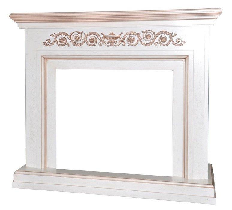 Камин Real-Flame Leticia 26Порталы из дерева<br>Real Flame (Реал Флейм) Leticia 26 &amp;ndash; это великолепное обрамление для каминных электротопок с диагональю в двадцать шесть дюймов от ведущего канадского бренда. Модель являет собой классический портал, выполненный в романском стиле с резными декоративными элементами, строгой геометрией и широким основанием. Роскошное цветовое решение &amp;ndash; белый дуб и коричневая патина привнесут в оформление помещение благородство и уют.&amp;nbsp;<br>Особенности и преимущества деревянного портала для электрокамина от Real-Flame представленной модели:<br><br>Материалы изготовления: МДФ, натуральный шпон.<br>Пристенный фронтальный вариант установки.<br>Стильный эргономичный дизайн.<br>Компактные размеры.<br>Высокое качество материалов и сборки.<br>Простота в уходе.<br>Портал устойчив к разрушающему воздействию солнечных лучей и небольших механических повреждений.<br>Несложный монтаж, не требующий профессиональных навыков.<br>Подходит для комплектации электрическими топками от одноименного бренда.<br>Очаг для портала необходимо приобрести отдельно.<br><br>Новое семейство каминных порталов от популярной торговой марки Real-Flame &amp;ndash; это высокие технологии производства, только качественные материалы и длительный срок эксплуатации. В нашем интернет-каталоге представлен широкий ассортимент моделей, где каждый пользователь сможет подобрать обрамление, которое идеально впишется в его интерьер. Новинки исполнены в универсальном &amp;ndash; для установки в угол или у стены и в классическом фронтальном варианте.<br><br>Страна: Канада<br>Материал портала: МДФ/нат. шпон<br>Цвет: Белый с патиной<br>Тип портала: Фронтальный<br>ГабаритыВШГ,мм: 1050x1235x370<br>Вес, кг: 57<br>Гарантия: 1 год