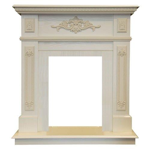 Деревянный портал для камина Real-Flame Lilian WTПорталы из дерева<br>Real Flame (Реал Флейм) Lilian WT портал из для 3D очагов: 3D Olympic, 3D Oregan, 3D Eugene. Обрамление сделано из качественных МДФ и пленки под древесину с отделкой в цвете белого дуба. Температура и внешние воздействия оказывают незначительное влияние на свойства материалов, таким образом обеспечено длительное сохранение заложенных в них характеристик. <br><br>Проработанные стиль и эстетика дизайна<br>Высококачественные материалы под дерево или камень<br>Цвет  WT-F617<br>Поверхность, устойчивая к повреждениям, температурам<br>Установка пристенная<br>Искусное исполнение высокого класса<br>Долгий срок службы<br>Комплектуется электрическими очагами этого же производителя<br>Простая и быстрая установка<br>Удобное и легкое обслуживание<br><br>Компания Real Flame представляет серию порталов под электрокамины. Богатство и разнообразие моделей различных наименований, отличающихся цветом, размерами, внешним видом и другими характеристиками. Повышенный контроль качества продукции. Порталы для каминов изготовляются из различных материалов камня и дерева с изысканой стилизацией в классическом или современном дизайне. Каждый портал согласуется с  определенным типом и размерами очагов, так что заказчик может выбрать для себя любое их сочетание по своему вкусу.<br><br>Страна: Канада<br>Материал портала: МДФ/пленка<br>Цвет: Дуб белый<br>Тип портала: Фронтальный<br>ГабаритыВШГ,мм: 970х890х370<br>Вес, кг: 50<br>Гарантия: 1 год