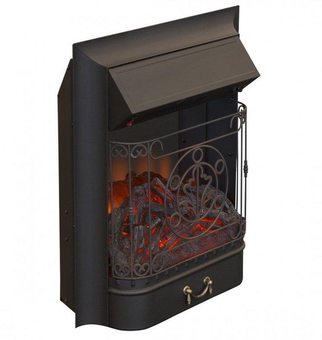 Очаг электрокамина Real-Flame Majestic LuxОчаги классические<br>Еще одна новая модель электрокамина из недорогой серии Real Flame (Реал Флейм) Majestic Lux классического дизайна типичного английского камина для дров. Камин отличает изящная решетка с коваными элементами, закрывающая переднее стекло и имитация звуков горящих поленьев. Имеется два уровня мощности обогрева. Материал изделия   сталь. Предназначен для встраивания в стандартное обрамление. <br>Особенности рассматриваемой модели каминного портала от торговой марки Real Flame:<br><br>Тип очага - встраиваемый.<br>Искусно выполненные муляжи поленьев.<br>Стильный эргономичный дизайн.<br>Компактные установочные размеры.<br>Высокое качество материалов и сборки.<br>Простота в уходе.<br>Низкое энергопотребление.<br>Два режима мощности обогрева  декоративный режим работы.<br>Несложный монтаж, не требующий профессиональных навыков.<br><br>Для того, чтобы самостоятельно собрать камин, который станет изюминкой интерьера, будет радовать хозяев и гостей дома, при этом не получать разрешений на установку и не сооружать специальных конструкций, нужно совсем немного.  Достаточно всего лишь приобрести качественный портал и электротопку. У нас в магазине представлен широкий выбор электроочагов от компании Real Flame, которые отличаются функционалом и исполнением. При этом все модели характеризуются невероятно реалистичной имитацией пламени, которое практически невозможно отличить от живого огня. <br><br>Страна: Канада<br>Мощность, кВт: 1,5<br>Пламя Optiflame: None<br>Эффект топлива: Дрова, угли<br>Фильтр очистки воздуха: Нет<br>Обогреватель: Есть<br>Цвет рамки: Черный<br>Потрескивание: Нет<br>Пульт: Нет<br>Дисплей: Нет<br>Тип камина: Электрический<br>ГабаритыВШГ,мм: 606x503x250<br>Гарантия: 15 месяцев<br>Вес, кг: 11