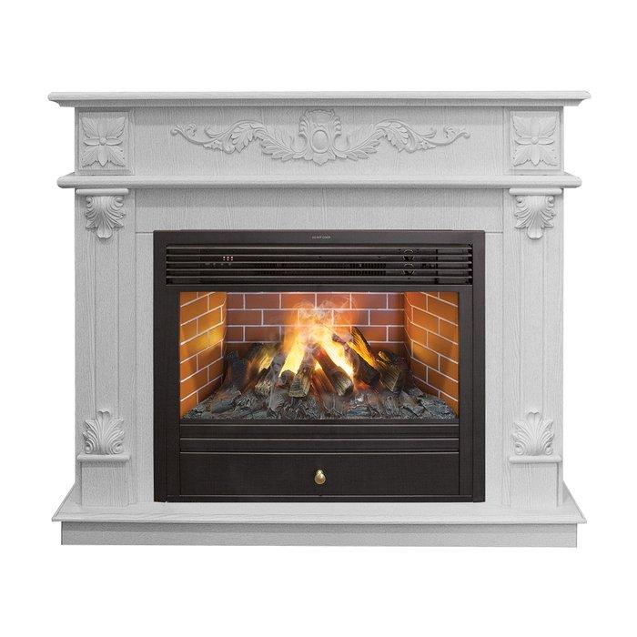 Камин Real-Flame Philadelphia WT с очагом 3D Novara 26Каминокомплекты<br>Real Flame (Реал Флейм) Philadelphia WT с очагом 3D Novara 26   это модель высокоэффективного и стильного электрокамина с комплектующими из высококачественных материалов и качественным и надежным исполнением. Представленная модель позволяет повысить качество воздуха в помещении, производит комфортный и безопасный обогрев, а также украшает интерьер.<br>Особенности и преимущества готовых решений электрических каминов Real-Flame:<br><br>Привлекательный внешний вид.<br>Отсутствует потребность в дымоходе.<br>Нет дополнительных материальных затрат в процессе монтажа.<br>Прочное стекло, которое не нагревается.<br>Высокий уровень пожаробезопасности.<br>Высококачественные исходные материалы.<br>Портал не облазит и не портится от воздействия солнечных лучей.<br>Реалистичный огонь.<br>Рядом стоящие предметы интерьера не нагреваются.<br>Безопасность эксплуатации.<br>Комфорт использования.<br><br>Особенности и преимущества очага Real Flame 3D Novara 26:<br><br>Электрический очаг с эффектом пламени 3D нового поколения. Модель 2015 года.<br>Абсолютно реалистичный эффект пламени.<br>Мощность на обогрев - до 1,8 кВт.<br>Мощность в декоративном режиме 140Вт (4 галогеновые лампы по 35Вт каждая).<br>Помимо звука горения дров, в очаге используется термостат для поддержания заданной температуры в помещении.<br>Очаг с функцией увлажнения воздуха.<br><br>Электрический камин Real Flame   это отличная альтернатива дровяным печам. Такие приборы смогут создать иллюзию настоящего огня, который вы вряд ли отличите от настоящего. Однако электрические камины имеют множество преимуществ перед дровяными  собратьями . Во-первых, это отсутствие продуктов сгорания, что означает   такие камины не нуждаются в дымоходных трубах. Во-вторых, вам не нужно заботиться о наличии топлива (дров или угля), а также производить обязательную регулярную чистку зольников и топочных камер. В-третьих, электрический камин очень легкий, не требует вст