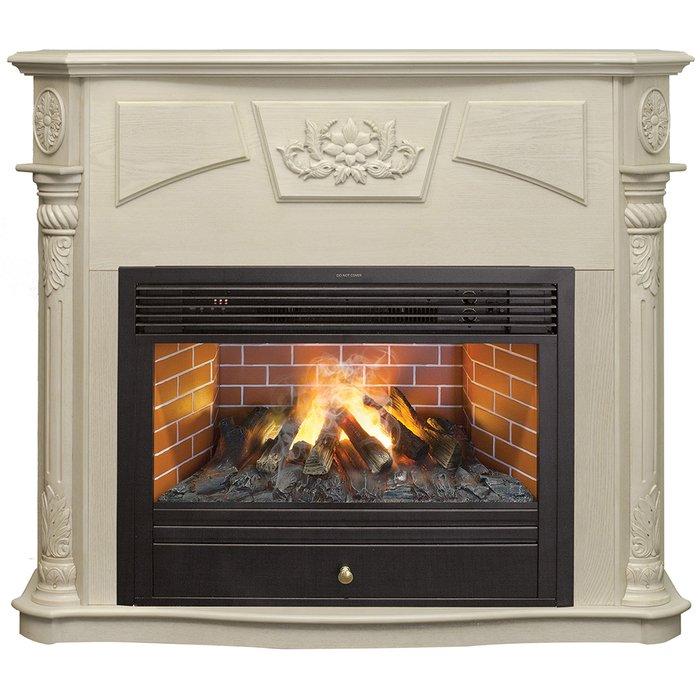 Камин Real-Flame Sofie WT с очагом 3D Novara 26Каминокомплекты<br>Real Flame (Реал Флейм) Sofie WT с очагом 3D Novara 26   это электрокамин передового поколения, отличающийся простотой сборки и комфортной безопасной эксплуатацией. Модель имеет современное функциональное оснащение, применяется в режимах обогрева и отличается максимально точной и реалистичной имитацией настоящего пламени. Камин не занимает много полезной площади при размещении.<br>Особенности и преимущества готовых решений электрических каминов Real-Flame:<br><br>Привлекательный внешний вид.<br>Отсутствует потребность в дымоходе.<br>Нет дополнительных материальных затрат в процессе монтажа.<br>Прочное стекло, которое не нагревается.<br>Высокий уровень пожаробезопасности.<br>Высококачественные исходные материалы.<br>Портал не облазит и не портится от воздействия солнечных лучей.<br>Реалистичный огонь.<br>Рядом стоящие предметы интерьера не нагреваются.<br>Безопасность эксплуатации.<br>Комфорт использования.<br><br>Особенности и преимущества очага Real Flame 3D Novara 26:<br><br>Электрический очаг с эффектом пламени 3D нового поколения. Модель 2015 года.<br>Абсолютно реалистичный эффект пламени.<br>Мощность на обогрев - до 1,8 кВт.<br>Мощность в декоративном режиме 140Вт (4 галогеновые лампы по 35Вт каждая).<br>Помимо звука горения дров, в очаге используется термостат для поддержания заданной температуры в помещении.<br>Очаг с функцией увлажнения воздуха.<br><br>Электрический камин Real Flame   это отличная альтернатива дровяным печам. Такие приборы смогут создать иллюзию настоящего огня, который вы вряд ли отличите от настоящего. Однако электрические камины имеют множество преимуществ перед дровяными  собратьями . Во-первых, это отсутствие продуктов сгорания, что означает   такие камины не нуждаются в дымоходных трубах. Во-вторых, вам не нужно заботиться о наличии топлива (дров или угля), а также производить обязательную регулярную чистку зольников и топочных камер. В-третьих, электрический камин очень