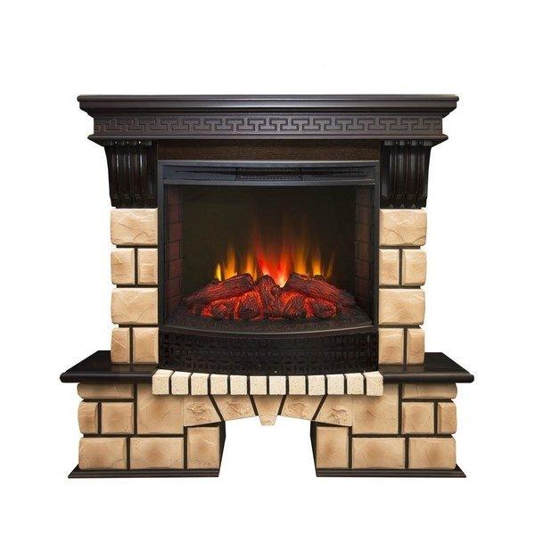 Камин Real-Flame Stone Brick 25/25,5 с очагом Evrika 25,5 LEDКаминокомплекты<br>Real Flame (Реал Флейм) Stone Brick 25/25,5 с очагом Evrika 25,5 LED представляет собой модель качественного электрического камина, оснащенного таймером отключения. Оборудование отличается прочной конструкцией и длительным периодом эксплуатации. Для достижения максимально комфортного управления устройством к нему прилагается пульт ДУ.<br>Особенности и преимущества:<br><br>Стильный, роскошный внешний вид.<br>Портал камина имеет отделку шпоном.<br>Материал изготовления   МДФ высокого качества.<br>Реалистичные муляжи поленьев.<br>100% гарантия качества и долговечности.<br><br>Готовые комплекты электрических каминов Real Flame с порталом Stone Brick отличаются оригинальной конструкцией. Портал каминов состоит из двух частей: более широкой опорной части и более узкой части, предназначенной для очага. Модели представлены в цвете  античный дуб . Качественное оборудование проходит строгое тестирование перед поступлением в продажу, чему соответствуют специальные сертификаты качества.<br><br>Страна: Канада<br>Материалы портала: МДФ/нат. шпон/камень<br>Мощность, кВт: 2,0<br>Обогреватель: Есть<br>Фильтр очистки воздуха: Нет<br>Пламя Optiflame: Нет<br>Эффект топлива: Дрова<br>Цвет: Античный дуб<br>Потрескивание: Нет<br>Пульт: Есть<br>Дисплей: Нет<br>Тип камина: Электрический<br>ГабаритыВШГ,мм: 1065x1050x425<br>Вес, кг: 65<br>Гарантия: 1 год