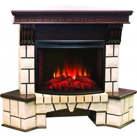 Камин Real-Flame Stone Corner new 25 с очагом Evrika 25,5 LEDКаминокомплекты<br>RealFlame (Реал Флейм) StoneCornernew 25 с очагом Evrika 25,5 LED представляет собой модель каминного комплекта, оснащенного таймером отключения и диммером. Достаточно широкий встроенный очаг помогает прочувствовать всю прелесть тления дров. Прочный портал камина изготовлен из износостойких материалов, отличающихся длительным сроком службы.<br>Доступные цвета: темный орех, античный дуб.<br>Особенности и преимущества:<br><br>Стильный, роскошный внешний вид.<br>Портал камина имеет отделку шпоном.<br>Материал изготовления   МДФ высокого качества.<br>Реалистичные муляжи поленьев.<br>100% гарантия качества и долговечности.<br><br>Готовые комплекты электрических каминов Real Flame с порталом Stone Corner new отличаются качественной и оригинальной конструкцией. Порталы агрегатов, выполненные в виде каменных конструкции, позволяют использовать камины в качестве полок под различные элементы декора. Все модели из серии оборудованы пультами ДУ и защитой от перегрева и перепадов напряжения. <br><br>Страна: Канада<br>Материалы портала: МДФ/нат. шпон/камень<br>Мощность, кВт: 2,0<br>Обогреватель: Есть<br>Фильтр очистки воздуха: Нет<br>Пламя Optiflame: Нет<br>Эффект топлива: Дрова<br>Цвет: Мульти<br>Потрескивание: Нет<br>Пульт: Есть<br>Дисплей: Нет<br>Тип камина: Электрический<br>ГабаритыВШГ,мм: 1050x1280x780 к:760<br>Вес, кг: 70<br>Гарантия: 1 год