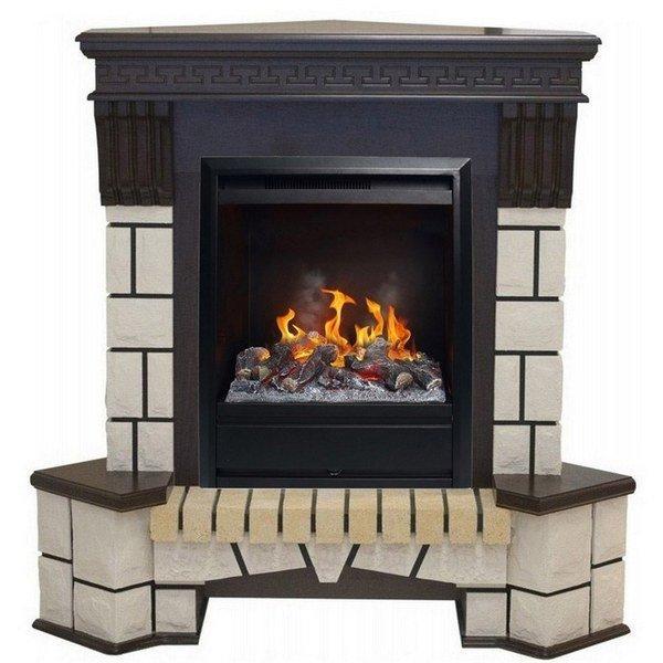 Камин Real-Flame Stone Corner new STD/EUG/VL с очагом 3D OlympicКаминокомплекты<br>Real Flame (Реал Флейм) Stone Corner new STD/EUG/VL с очагом 3D Olympic представляет собой модель каминного комплекта, оборудованного термостатом. Прочный портал агрегата выполнен из МДФ и шпона. Данные материалы отличаются износостойкостью и качеством. Камин является не только качественным обогревателем, но и достойным украшением интерьера.<br>Доступные цвета: темный орех, античный дуб.<br>Особенности и преимущества:<br><br>Стильный, роскошный внешний вид.<br>Портал камина имеет отделку шпоном.<br>Материал изготовления   МДФ высокого качества.<br>Реалистичные муляжи поленьев.<br>100% гарантия качества и долговечности.<br><br>Готовые комплекты электрических каминов Real Flame с порталом Stone Corner new отличаются качественной и оригинальной конструкцией. Порталы агрегатов, выполненные в виде каменных конструкции, позволяют использовать камины в качестве полок под различные элементы декора. Все модели из серии оборудованы пультами ДУ и защитой от перегрева и перепадов напряжения. <br><br>Страна: Канада<br>Материалы портала: МДФ/нат. шпон/камень<br>Мощность, кВт: 1,5<br>Обогреватель: Есть<br>Фильтр очистки воздуха: Нет<br>Пламя Optiflame: Есть<br>Эффект топлива: Дрова<br>Цвет: Мульти<br>Потрескивание: Нет<br>Пульт: Есть<br>Дисплей: Нет<br>Тип камина: Электрический<br>ГабаритыВШГ,мм: 1060x1350x750к:710<br>Вес, кг: 70<br>Гарантия: 1 год