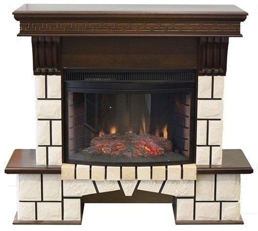 Камин Real-Flame Stone NEW + Firespace 25 IR SКаминокомплекты<br>Инновационная светодиодная имитация горения дров в топке модели Stone NEW FS25 +Firespace 25 IR S не оставит сомнений, что перед вами настоящий дровяной камин. Эффект дополнен звуком потрескивания поленьев при горении и возможностью обогрева, который основан на инфракрасном излучении. При этом камин данной модели имеет удобные установочные размеры и не требует дополнительных разрешений.<br>Доступные цвета: античный дуб, темный орех.<br>Особенности и преимущества электрических каминокомплектов от компании Real-Flame:<br><br>Стильный, роскошный внешний вид в стиле &amp;laquo;Кантри&amp;raquo;.<br>Портал камина имеет отделку шпоном натуральных пород древесины.<br>Материал изготовления &amp;ndash; МДФ высокого качества.<br>Эффект горения живого пламени по запатентованной технологии.<br>Реалистичные муляжи поленьев.<br>Звуковой эффект потрескивания дров.<br>Точная копия каминной кладки внутри очага.<br>Реализована возможность настройки эффекта горения и тления дров.<br>Высокоэффективный инфракрасный обогрев.<br>Встроенный высокоточный термостат.<br>100% гарантия качества и долговечности.<br>Комплектуется пультом дистанционного управления.<br><br>Производство каминов компании Real-Flame постоянно развивается, модельные ряды пополняются все более новыми, комфортными в эксплуатации современными приборами. Предлагаем вашему вниманию только лучшие модели каминных комплектов от данного производителя, которые осуществляют работу от бытовой сети электричества, что в свою очередь упрощает монтаж и время его проведения. Серия каминокомплектов от Real-Flame представлена широким модельным рядом, где приборы выполнены в различном стиле, отличаются цветовым решением, а также &amp;nbsp;набором функций и возможностей. При этом каждая модель отличается высоким качеством,&amp;nbsp; безопасностью и длительным сроком эксплуатации.<br><br>Страна: Россия<br>Материалы портала: МДФ/нат. шпон<br>Мощность, кВт: 1,8<br>Обогреватель: 