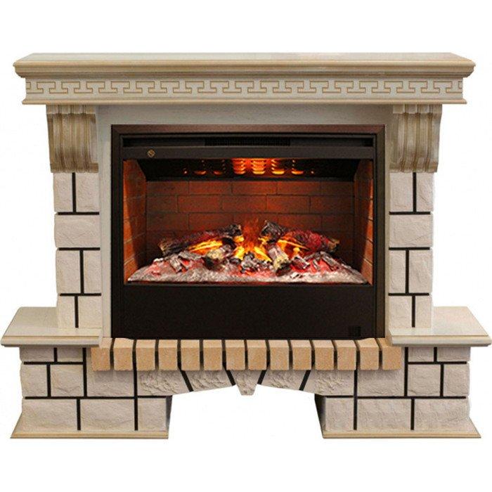 Камин Real-Flame Stone New 26 WTG с очагом 3D Helios 26Каминокомплекты<br>Real Flame (Реал Флейм) Stone New 26 WTG с очагом 3D Helios 26 представляет собой небольшой элегантный электрокамин с широким функциональным оснащением и большим сроком службы. Рассматриваемый агрегат не занимает много места при монтаже, благодаря чему прекрасно подходит для помещений самых разных форм, а также отличается большим запасом прочности.<br>Особенности и преимущества готовых решений электрических каминов Real-Flame:<br><br>Привлекательный внешний вид.<br>Отсутствует потребность в дымоходе.<br>Нет дополнительных материальных затрат в процессе монтажа.<br>Прочное стекло, которое не нагревается.<br>Высокий уровень пожаробезопасности.<br>Высококачественные исходные материалы.<br>Портал не облазит и не портится от воздействия солнечных лучей.<br>Реалистичный огонь.<br>Рядом стоящие предметы интерьера не нагреваются.<br>Безопасность эксплуатации.<br>Комфорт использования.<br><br>Особенности и преимущества очага Real Flame 3D Helios 26:<br><br>Электрический очаг с эффектом пламени 3D нового поколения. Модель 2015 года.<br>Абсолютно реалистичный эффект пламени.<br>Мощность на обогрев - до 1,7 кВт.<br>Мощность в декоративном режиме 175Вт (5 галогеновых ламп по 35Вт каждая).<br>Очаг с функцией увлажнения воздуха.<br><br>Электрический камин Real Flame &amp;ndash; это отличная альтернатива дровяным печам. Такие приборы смогут создать иллюзию настоящего огня, который вы вряд ли отличите от настоящего. Однако электрические камины имеют множество преимуществ перед дровяными &amp;laquo;собратьями&amp;raquo;. Во-первых, это отсутствие продуктов сгорания, что означает &amp;ndash; такие камины не нуждаются в дымоходных трубах. Во-вторых, вам не нужно заботиться о наличии топлива (дров или угля), а также производить обязательную регулярную чистку зольников и топочных камер. В-третьих, электрический камин очень легкий, не требует встраивания в нишу, может легко переместиться на другое место, что бывает 