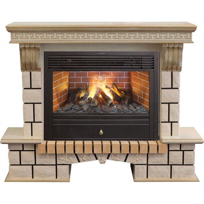 Камин Real-Flame Stone New 26 WTG с очагом 3D Novara 26Каминокомплекты<br>Real Flame (Реал Флейм) Stone New 26 WTG с очагом 3D Novara 26 &amp;ndash; это высокопроизводительный современный электрокамин с привлекательным эстетичным внешним исполнением. Устройство отличается непревзойденным качеством использованных материалов и в течение многих лет служит с максимальной эффективностью, не подвергаясь воздействию среды эксплуатации.<br>Особенности и преимущества готовых решений электрических каминов Real-Flame:<br><br>Привлекательный внешний вид.<br>Отсутствует потребность в дымоходе.<br>Нет дополнительных материальных затрат в процессе монтажа.<br>Прочное стекло, которое не нагревается.<br>Высокий уровень пожаробезопасности.<br>Высококачественные исходные материалы.<br>Портал не облазит и не портится от воздействия солнечных лучей.<br>Реалистичный огонь.<br>Рядом стоящие предметы интерьера не нагреваются.<br>Безопасность эксплуатации.<br>Комфорт использования.<br><br>Особенности и преимущества очага Real Flame 3D Novara 26:<br><br>Электрический очаг с эффектом пламени 3D нового поколения. Модель 2015 года.<br>Абсолютно реалистичный эффект пламени.<br>Мощность на обогрев - до 1,8 кВт.<br>Мощность в декоративном режиме 140Вт (4 галогеновые лампы по 35Вт каждая).<br>Помимо звука горения дров, в очаге используется термостат для поддержания заданной температуры в помещении.<br>Очаг с функцией увлажнения воздуха.<br><br>Электрический камин Real Flame &amp;ndash; это отличная альтернатива дровяным печам. Такие приборы смогут создать иллюзию настоящего огня, который вы вряд ли отличите от настоящего. Однако электрические камины имеют множество преимуществ перед дровяными &amp;laquo;собратьями&amp;raquo;. Во-первых, это отсутствие продуктов сгорания, что означает &amp;ndash; такие камины не нуждаются в дымоходных трубах. Во-вторых, вам не нужно заботиться о наличии топлива (дров или угля), а также производить обязательную регулярную чистку зольников и топочных камер. В-третьих,