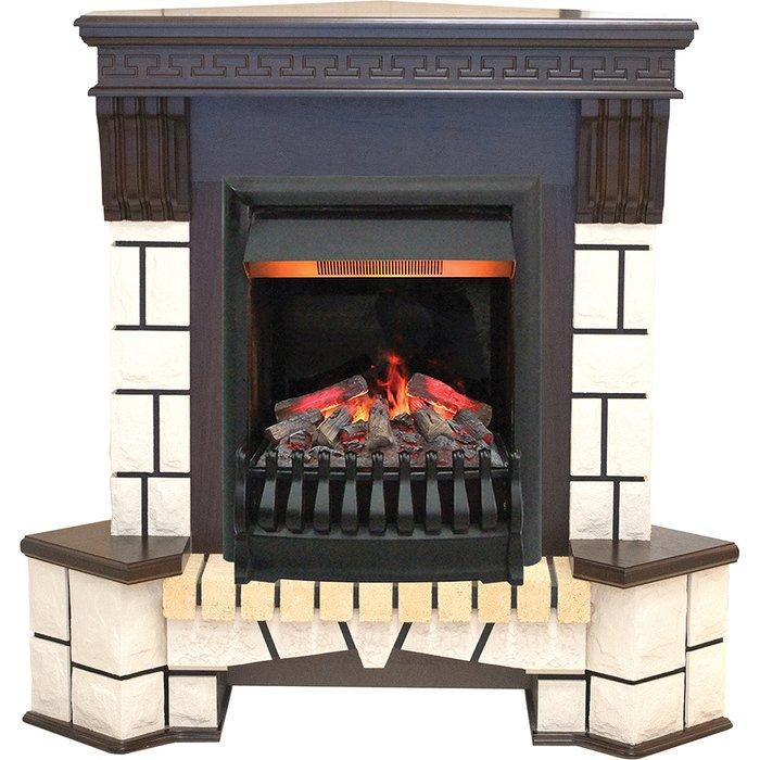 Камин Real-Flame Stone New Corner с очагом 3D OreganКаминокомплекты<br>Real Flame (Реал Флейм) Stone New Corner с очагом 3D Oregan &amp;ndash; это современный бытовой угловой электрокамин, оборудованный очагом последнего поколения с высокотехнологичной комплектацией. Рассматриваемый агрегат создает абсолютно реалистичную имитацию пламени, при этом по желанию пользователя производя или не производя обогрев обслуживаемой территории.<br>Особенности и преимущества готовых решений электрических каминов Real-Flame:<br><br>Привлекательный внешний вид.<br>Отсутствует потребность в дымоходе.<br>Нет дополнительных материальных затрат в процессе монтажа.<br>Прочное стекло, которое не нагревается.<br>Высокий уровень пожаробезопасности.<br>Высококачественные исходные материалы.<br>Портал не облазит и не портится от воздействия солнечных лучей.<br>Реалистичный огонь.<br>Рядом стоящие предметы интерьера не нагреваются.<br>Безопасность эксплуатации.<br>Комфорт использования.<br><br>Особенности и преимущества очага Real Flame 3D Oregan:<br><br>Новинка 2016!<br>На 100% достоверный и реалистичный эффект пламени.<br>Очаг снабжен пультом дистанционного управления, обладает защитой от перегрева.<br>Предусмотрена регулировка высоты пламени.<br>2 режима обогрева (0,75 или 1,5 Квт)<br>Очаг с функцией увлажнения воздуха.<br><br>Электрический камин Real Flame &amp;ndash; это отличная альтернатива дровяным печам. Такие приборы смогут создать иллюзию настоящего огня, который вы вряд ли отличите от настоящего. Однако электрические камины имеют множество преимуществ перед дровяными &amp;laquo;собратьями&amp;raquo;. Во-первых, это отсутствие продуктов сгорания, что означает &amp;ndash; такие камины не нуждаются в дымоходных трубах. Во-вторых, вам не нужно заботиться о наличии топлива (дров или угля), а также производить обязательную регулярную чистку зольников и топочных камер. В-третьих, электрический камин очень легкий, не требует встраивания в нишу, может легко переместиться на другое место, чт