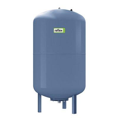 Расширительный бак Reflex DE 100100 литров<br>Предназначенный для организации системы горячего или холодного водоснабжения мембранный бак Reflex (Рефлекс) DE 100 выполнен из качественной листовой стали и защищен от образования коррозии и дальнейшего разрушения в следствии ее появления.  Максимальное рабочее давление рассматриваемой расширительной емкости соответствует показателю 10 бар. Используется баллонная мембрана.<br>Основные преимущества рассматриваемой модели расширительного бака Reflex:<br><br>Гидроаккумуляторы для систем горячего и холодного водоснабжения, водяного отопления, установок поддержания давления.<br>Восполняют убыль объема воды в системах водоснабжения.<br>Возможность использования бака для накопления воды с температурой до 70 С включительно.<br>Без проточной, запорной и сливной арматуры.<br>Полимерное покрытие.<br>Поверхности, контактирующие с водой защищены от коррозии.<br>Предварительное давление 4 бар.<br>Максимальное давление 10 бар.<br><br>Расширительные баки для систем отопления и водоснабжения от торговой марки Reflex   это надежные модели, которые были выполнены из качественных, износоустойчивых материалов, защищенных от коррозии. Представленное оборудование предназначено для решения очень важных вопросов, связанных с системами отопления и водоснабжения   они позволяют снизить нагрузку на трубы в момент расширения теплоносителя.<br><br>Страна: Германия<br>Производитель: Германия<br>Объем, л: 100<br>Рабочая темп. С: 70<br>Давление, бар: 4.0<br>Max рабочее давление, бар: 10<br>Покрытие бака: Полимер<br>Присоединительный диаметр, мм: 1<br>Габариты ВхШхГ, мм: 835x480x480<br>Вес, кг: 19<br>Гарантия: 2 года<br>Ширина мм: 480<br>Высота мм: 835<br>Глубина мм: 480