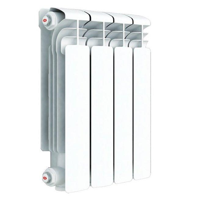 Радиатор отопления Rifar Alum 350 4 секц.Алюминиевые<br>Алюминиевый радиатор отопления Rifar (Рифар) Alum 350 4 секц. создавался для обеспечения комфортных условий в период морозов и межсезонья. Эти приборы универсальны: вы можете подключить их к традиционной отопительной системе с водой в качестве теплоносителя, а также можете использовать как маслонаполненные приборы, работающие от электричества. Отличительное преимущество радиаторов, которое выгодно выделяет их на фоне конкурентов   это уникальная конструкция секционного вертикального канала. Каждая секция радиатора оснащена технологическим отверстием, которое закрывается специальной плотной заглушкой с уплотнителем и не требует сварки. При этом обеспечивается полная герметичность.<br>Особенности и преимущества алюминиевых радиаторов отопления Rifar серии Alum:<br><br>Эффективность поддержания комфортного температурного режима.<br>Цвет радиатора - RAL 9016 (белый).<br>Межосевое расстояние - 350 мм.<br>Двух кратное испытание на герметичность при давлении 30 атм.<br>Гарантия - 10 лет.<br>Водородный показатель теплоносителя рН 7-8.<br>Данный радиатор можно использовать в традиционных системах отопления или в качестве масляного электрического радиатора.<br>Геометрия овального сечения вертикального канала и минимальная толщина стенки (2,8 мм) обеспечивает высокую скорость теплоносителя и снижение образования отложений на внутренних стенках.<br>Возможно использование радиаторов при высокой до 135 С температуре теплоносителя.<br>Продукция Rifar сертифицирована органом по сертификации санитарно-технического и отопительного оборудования САНРОС.<br>В радиаторах выпущенных после 15 июля 2011 допускается использование антифризов (эти радиаторы отмечены желтой наклейкой с указанием допустимых видов теплоносителей).<br>Радиатор бесперебойно работает в течение 25 лет с момента установки при условии правильной транспортировки, монтажа и эксплуатации.<br>Возможна установка устройства в помещениях различного назначения, в том числ