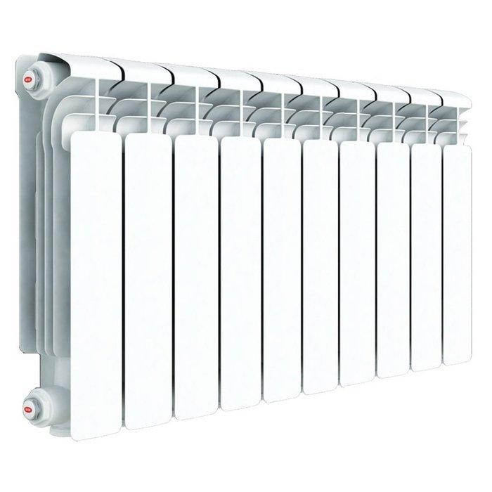 Радиатор отопления Rifar Alum 500 10 секцАлюминиевые<br>Алюминиевый радиатор отопления Rifar (Рифар) Alum 500 10 секц   идеальный выбор для тех, кто ценит надежность. Производитель использовал исключительно первоклассные материалы и самые последние разработки в области производства отопительной техники. Компания Рифар гарантирует двадцатипятилетний срок безукоризненной работы приборов. А официальная гарантия на радиаторы составляет десять лет! Дизайн радиаторов Рифар Alum тоже заслуживает внимания. Элегантные формы с четкой геометрией линий, выдержанные в белоснежной гамме, будут уместны в любых современных интерьерах.<br>Особенности и преимущества алюминиевых радиаторов отопления Rifar серии Alum:<br><br>Эффективность поддержания комфортного температурного режима.<br>Цвет радиатора - RAL 9016 (белый).<br>Межосевое расстояние - 500 мм.<br>Двух кратное испытание на герметичность при давлении 30 атм.<br>Гарантия - 10 лет.<br>Водородный показатель теплоносителя рН 7-8.<br>Данный радиатор можно использовать в традиционных системах отопления или в качестве масляного электрического радиатора.<br>Геометрия овального сечения вертикального канала и минимальная толщина стенки (2,8 мм) обеспечивает высокую скорость теплоносителя и снижение образования отложений на внутренних стенках.<br>Возможно использование радиаторов при высокой до 135 С температуре теплоносителя.<br>Продукция Rifar сертифицирована органом по сертификации санитарно-технического и отопительного оборудования САНРОС.<br>В радиаторах выпущенных после 15 июля 2011 допускается использование антифризов (эти радиаторы отмечены желтой наклейкой с указанием допустимых видов теплоносителей).<br>Радиатор бесперебойно работает в течение 25 лет с момента установки при условии правильной транспортировки, монтажа и эксплуатации.<br>Возможна установка устройства в помещениях различного назначения, в том числе в медицинских учреждениях, в детских дошкольных учреждениях.<br>Простота монтажа.<br>Номинальный размер резьбы колле
