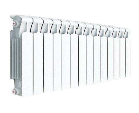 Радиатор отопления Rifar Monolit 350 14 секц.Биметаллические<br>Биметаллический радиатор Rifar (Рифар) Monolit 350 14 секц. приспособлен к самым тяжелым условиям эксплуатации, поскольку представляет собой монолитное соединения внутреннего стального коллектора с внешней алюминиевой оболочкой. Такая конструкция гарантирует высокую степень теплоотдачи, нечувствительна к качеству очистки теплоносителя и обладает чрезвычайной надежностью.<br>Особенности секционного радиатора отопления серии Rifar Monolit 350:<br><br>Биметаллический секционный радиатор<br>Неразборная конструкция со стальным коллектором<br>Подходит для работы с любым типом теплоносителя<br>Межосевое расстояние 350 мм<br>Высокая степень надёжности<br>Рабочее давление до 10,0 МПа (100 атм.)<br>Испытательное давление 15,0 МПа (150 атм.)<br>Разрушающее давление  25,0 МПа(250 атм.)<br>Максимальная температура теплоносителя 135  C<br>Водородный показатель теплоносителя рН 7 - 9<br>Размер резьбы присоединительных<br>отверстий G 3/4? (20 мм)<br>Настенный вариант установки<br>Стильный современный облик<br>100% эффективность обогрева<br>Для оптимальной теплоотдачи расстояние между радиатором и полом должно<br>быть 70 120мм, а между радиатором и подоконником не менее 80мм<br>Жесткий контроль качества на производстве.<br><br>Радиаторы для систем отопления от одного из самых популярных отечественных производителей   Rifar Monolit 350   это компактные, стильные и высокоэффективные устройства, которые принесут к вам в дом тепло и уют. Модели изготовлены с применением современных технологий, уникальный способ состыковки секций полностью исключает возможность протечки теплоносителя. Элегантный облик и белоснежный цвет радиаторов семейства позволят вписать данные изделия в любое оформление помещения. Стоит также отметить, что компания Rifar тщательно следит за качеством своей продукции, что гарантирует долговечность и безопасность эксплуатации оборудования.<br><br>Страна: Россия<br>Межосевое расстояние, мм: 350<br>Площадь, 