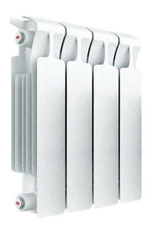 Радиатор отопления Rifar Monolit 350 4 секц.Биметаллические<br>Биметаллический радиатор Rifar (Рифар) Monolit 350 4 секц. приспособлен к самым тяжелым условиям эксплуатации, поскольку представляет собой монолитное соединения внутреннего стального коллектора с внешней алюминиевой оболочкой. Такая конструкция гарантирует высокую степень теплоотдачи, нечувствительна к качеству очистки теплоносителя и обладает чрезвычайной надежностью.<br>Особенности секционного радиатора отопления серии Rifar Monolit 350:<br><br>Биметаллический секционный радиатор<br>Неразборная конструкция со стальным коллектором<br>Подходит для работы с любым типом теплоносителя<br>Межосевое расстояние 350 мм<br>Высокая степень надёжности<br>Рабочее давление до 10,0 МПа (100 атм.)<br>Испытательное давление 15,0 МПа (150 атм.)<br>Разрушающее давление  25,0 МПа(250 атм.)<br>Максимальная температура теплоносителя 135  C<br>Водородный показатель теплоносителя рН 7 - 9<br>Размер резьбы присоединительных<br>отверстий G 3/4? (20 мм)<br>Настенный вариант установки<br>Стильный современный облик<br>100% эффективность обогрева<br>Для оптимальной теплоотдачи расстояние между радиатором и полом должно<br>быть 70 120мм, а между радиатором и подоконником не менее 80мм<br>Жесткий контроль качества на производстве.<br><br>Радиаторы для систем отопления от одного из самых популярных отечественных производителей   Rifar Monolit 350   это компактные, стильные и высокоэффективные устройства, которые принесут к вам в дом тепло и уют. Модели изготовлены с применением современных технологий, уникальный способ состыковки секций полностью исключает возможность протечки теплоносителя. Элегантный облик и белоснежный цвет радиаторов семейства позволят вписать данные изделия в любое оформление помещения. Стоит также отметить, что компания Rifar тщательно следит за качеством своей продукции, что гарантирует долговечность и безопасность эксплуатации оборудования.<br> <br><br>Страна: Россия<br>Межосевое расстояние, мм: 350<br>Площад