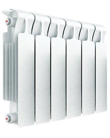 Радиатор отопления Rifar Monolit 350 6 секц.Биметаллические<br>Биметаллический радиатор Rifar (Рифар) Monolit 350 6 секц. приспособлен к самым тяжелым условиям эксплуатации, поскольку представляет собой монолитное соединения внутреннего стального коллектора с внешней алюминиевой оболочкой. Такая конструкция гарантирует высокую степень теплоотдачи, нечувствительна к качеству очистки теплоносителя и обладает чрезвычайной надежностью.<br>Особенности секционного радиатора отопления серии Rifar Monolit 350:<br><br>Биметаллический секционный радиатор<br>Неразборная конструкция со стальным коллектором<br>Подходит для работы с любым типом теплоносителя<br>Межосевое расстояние 350 мм<br>Высокая степень надёжности<br>Рабочее давление до 10,0 МПа (100 атм.)<br>Испытательное давление 15,0 МПа (150 атм.)<br>Разрушающее давление  25,0 МПа(250 атм.)<br>Максимальная температура теплоносителя 135  C<br>Водородный показатель теплоносителя рН 7 - 9<br>Размер резьбы присоединительных<br>отверстий G 3/4? (20 мм)<br>Настенный вариант установки<br>Стильный современный облик<br>100% эффективность обогрева<br>Для оптимальной теплоотдачи расстояние между радиатором и полом должно<br>быть 70 120мм, а между радиатором и подоконником не менее 80мм<br>Жесткий контроль качества на производстве.<br><br>Радиаторы для систем отопления от одного из самых популярных отечественных производителей   Rifar Monolit 350   это компактные, стильные и высокоэффективные устройства, которые принесут к вам в дом тепло и уют. Модели изготовлены с применением современных технологий, уникальный способ состыковки секций полностью исключает возможность протечки теплоносителя. Элегантный облик и белоснежный цвет радиаторов семейства позволят вписать данные изделия в любое оформление помещения. Стоит также отметить, что компания Rifar тщательно следит за качеством своей продукции, что гарантирует долговечность и безопасность эксплуатации оборудования.<br> <br><br>Страна: Россия<br>Межосевое расстояние, мм: 350<br>Площад