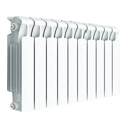 Радиатор отопления Rifar Monolit 500 10 секц.Биметаллические<br>Rifar (Рифар) Monolit 500 10 секц.   модель радиатора, в которой отсутствуют специальные ниппели для соединения секций, а вместо этого секции соединяются методом специальной сварки. Внутри секций, также с помощью сварки, соединены в единое целое стальной коллектор с внешней алюминиевой оболочкой. Все это обеспечивает высокую коррозионную стойкость, эффективное теплораспределение, возможность использования теплоносителя с высокой температурой и повышенным давлением.<br>Особенности секционного радиатора отопления серии Rifar Monolit 500:<br><br>Биметаллический секционный радиатор<br>Неразборная конструкция со стальным коллектором<br>Подходит для работы с любым типом теплоносителя<br>Межосевое расстояние 500 мм<br>Высокая степень надёжности<br>Рабочее давление до 10,0 МПа (100 атм.)<br>Испытательное давление 15,0 МПа (150 атм.)<br>Разрушающее давление  25,0 МПа(250 атм.)<br>Максимальная температура теплоносителя 135  C<br>Водородный показатель теплоносителя рН 7 - 9<br>Размер резьбы присоединительных<br>отверстий G 3/4? (20 мм)<br>Настенный вариант установки<br>Стильный современный облик<br>100% эффективность обогрева<br>Для оптимальной теплоотдачи расстояние между радиатором и полом должно<br>быть 70 120мм, а между радиатором и подоконником не менее 80мм<br>Жесткий контроль качества на производстве.<br><br>Основные требования к современным системам отопления   это высокое качество продуктов, безопасность эксплуатации и, конечно же, доступная стоимость. К оборудованию, которое идеально сочетает в себе все вышеперечисленные характеристики, относится серия биметаллических радиаторов Rifar Monolit 500. Абсолютно все модели семейства имеют ультрасовременную конструкцию, которая спроектирована таким образом, что исключена возможность протечек теплоносителя. При этом все изделия имеют стильный облик, компактные размеры и великолепно подойдут для размещения практически в любой интерьер помещений.<br> <br><br>Стра