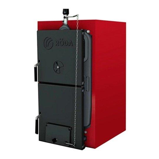 Котел Roda BCR-0630 кВт<br>Модель Roda (Рода) BCR-06 представляет собой котел, который монтируется напольным способом. Оборудование выполнено из чугуна, который обуславливает ему высокую прочность. Универсальное устройство работает от нескольких видов твердого топлива, что существенно облегчает его эксплуатацию. Внешняя часть оборудования полностью облицована минеральным покрытием, которое не допускает попадание вредных веществ в окружающую среду.<br>Особенности твердотопливных котлов отопления от компании R DA серии Brenner Classic BCR:<br><br>Чугунный теплообменник производства Чехии.<br>Есть возможность установки энергонезависимого регулятора тяги<br>КПД от 90%<br>Применяются в системах с естественной и принудительной циркуляцией.<br>Охлаждение колосниковых решеток водой.<br>Одностадийное сжигание топлива.<br>Универсальность топлива: дрова и уголь, в качестве дополнительного топлива при определенных условиях можно использовать древесную щепу, стружку, опилки, древесные гранулы или брикеты.<br>Защита чугунного теплообменника от конденсата<br>Принудительная или самотечная циркуляция теплоносителя.<br>Возможность подключения пеллетной, газовой или дизельной горелки.<br>Простота установки и обслуживания.<br><br>Чугунные твердотопливные котлы Roda серии Brenner Classic BCR помогут создать комфортную в эксплуатации и стабильную в работе систему отопления помещений. Модели разработаны для функционирования на твердых сортах топлива (уголь, дрова, кусковая древесина, стружки или опилки и пр.), но опционально можно приобрести горелку под газ. Котлы семейства отличаются высокой энергоэффективностью.<br> <br><br>Страна бренда: Германия<br>Производство: Чехия<br>Мощ. дрова, кВт: 33,0<br>Мощ. уголь, кВт: 34,9<br>Тип котла: Энергонезависимые<br>Режим работы: Отопление<br>Камера сгорания: Открытая<br>Теплообменник: Чугунный<br>Тип установки: Напольная<br>Колво секций: 6<br>Регулировка подачи воздуха: Да<br>Время сгорания дерева, ч: None<br>Время сгорания угля, ч: None<br>Max дли
