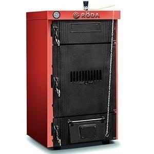 Котел Roda BM-0430 кВт<br>BM-04 от Roda является современным отопительным оборудованием, предназначенным для эксплуатации в зданиях, как бытового, так и промышленного назначения. Рассматриваемая модель осуществляет обогрев посредством сгорания твердого топлива   угля или дров, подключение к электрической сети не требуется. Для контроля за функционированием оборудования на верхнюю лицевую панель вынесен качественный и точный термоманометр.<br><br>Преимущественные особенности напольного твердотопливного котла от торговой марки Roda:<br><br>Высокие показатели КПД.<br>Термостатическая регулировка горения.<br>Экономичное потребление топлива.<br>Энергонезависимость.<br>Термостатическая регулировка горения.<br>Возможность подключения внешней горелки.<br>Чугунный секционный теплообменник с увеличенной поверхностью теплоотдачи.<br>Неприхотливость к качеству топлива.<br>Хорошая теплоизоляция топки.<br>Компактные габаритные размеры.<br>Незатруднительный установочный процесс.<br>Увеличенный эксплуатационный период.<br>Уменьшена потребность в частых сервисных осмотрах.<br>Разные системы циркуляции воздуха.<br>Превосходная совместимость с разными агрессивными условиями работы.<br>Функционирование в низкотемпературном режиме.<br>Рекомендована принудительная циркуляция теплоносителя.<br><br>Линейка напольных котлов  Brenner Max BM  от немецкой торговой марки Roda   это семейство приборов, различных по мощности, которые осуществляют обогрев различных помещений при помощи твердых сортов топлива.  Приборы серии имеют увеличенную камеру подачи топлива, благодаря которой максимально увеличено время работы на одной закладке. Все котлы могут одинаково качественно функционировать в системах, как с естественной, так и с принудительной рециркуляцией теплоносителя, что значительно расширяет область применения такого оборудования. Стоит отметить, что твердотопливные котлы Roda имеют современный внешний вид и удобную геометрию, что придется по вкусу любому покупателю. <br><br>Страна бренда: Гер