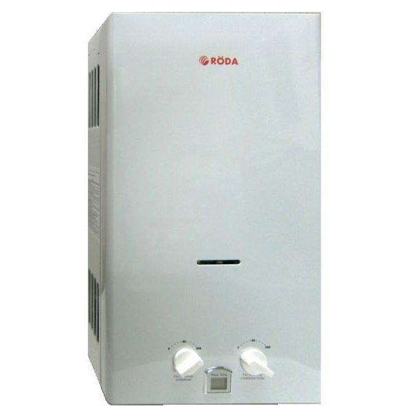 Водонагреватель Roda JSD20-A1(Atmo)16-21 кВт<br>Если Вам необходимо обеспечить свой дом или офис горячей водой, то проточный водонагреватель Roda JSD20-A1(Atmo)   это именно то, что вы ищете. Данная модель отличается высокой производительностью, благодаря чему Вы сможете пользоваться горячей водой в любое время суток и в любом количестве. Прибор оснащен современной системой удаления дыма, в связи с чем эксплуатация такого водонагревателя является совершенно безопасной. Система самодиагностики поможет в управлении, при возникновении неисправности выдаст на дисплей код ошибки.<br><br>Преимущественные особенности проточного газового водонагревателя от торговой марки Roda:<br><br>Электрический розжиг и контроль пламени.<br>Качественный медный теплообменник с жаропрочным покрытием.<br>Встроенный датчик контроля тяги.<br>Открытая камера сгорания.<br>Индикация температуры горячей воды и кодов блокировок.<br>Раздельная регулировка мощности и температуры.<br>Питание от двух батарей 1,5 В.<br>Компактные размеры, стильный эргономичный дизайн.<br><br>Линейка настенных газовых проточных водонагревателей от торговой марки из Германии   Roda   это серия приборов высокого качества, адаптированных к различным условиям эксплуатации, в том числе и к перепадам давления газа в магистрали, что нередко случается в нашей стране и на территории бывшего СНГ. Все водонагреватели оборудованы электрической системой розжига, фитиль автоматически воспламеняется при открывании крана горячей воды. При полном отсутствии тяги, подача газа также автоматически будет остановлена в течении тридцати секунд. Еще одним неоспоримым достоинством серии является то, что электричество необходимо лишь для осуществление розжига, для чего используются две батарейки, а значит, нет необходимости искать место для размещения водонагревателя около розетки.   <br><br>Страна: Германия<br>Производитель: Германия<br>Способ нагрева: Газовый<br>Производительность: 10<br>Темп. нагрева, С: 70<br>Давление на входе: 20<br>Мощност